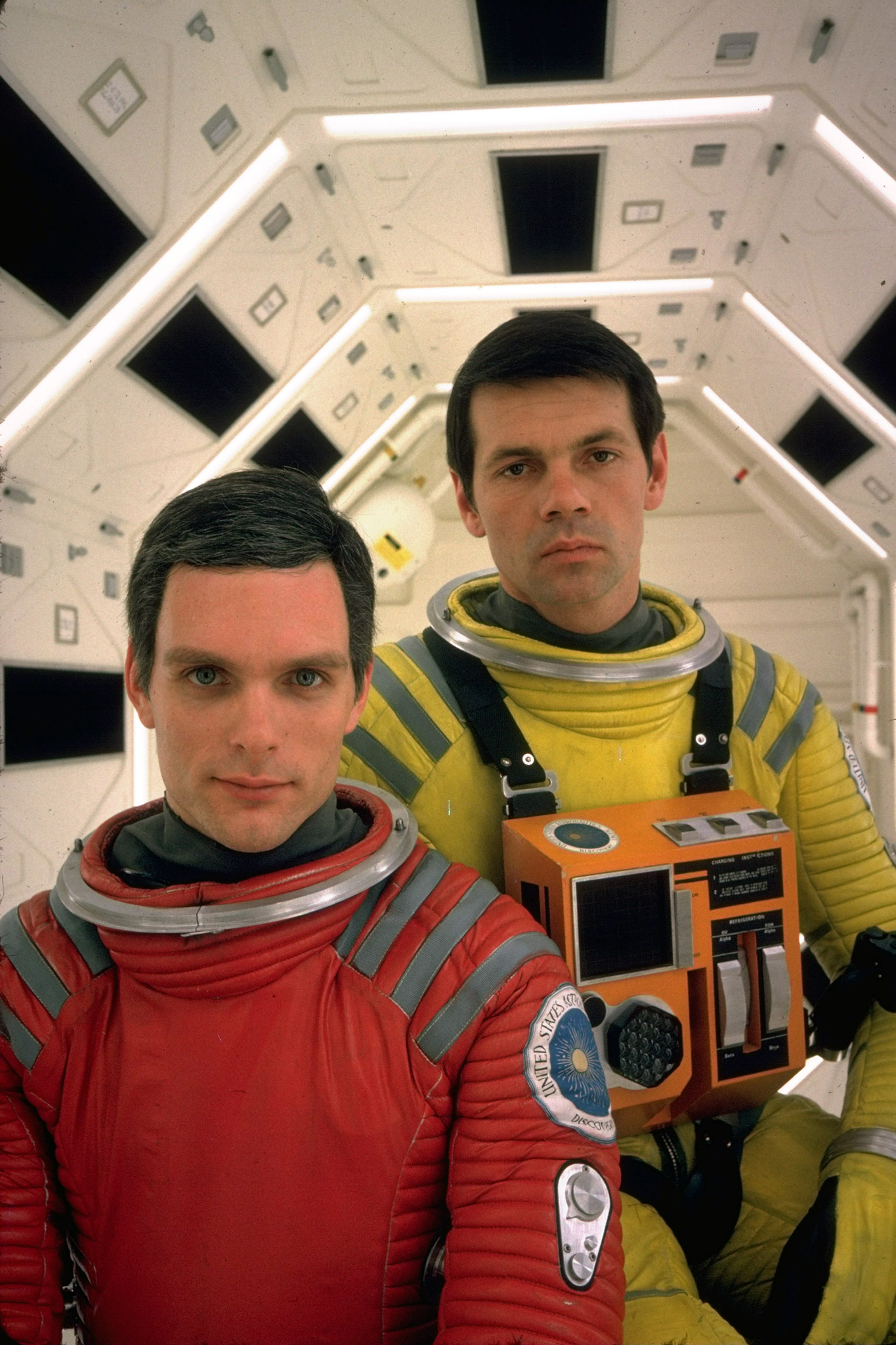 """Suit up in red and yellow for a look from Stanley Kubrick's 1968 film """"2001: A Space Odyssey,"""" channeling Kier Dullea as Dr. Dave Bowman and Gary Lockwood as Dr. Frank Poole."""