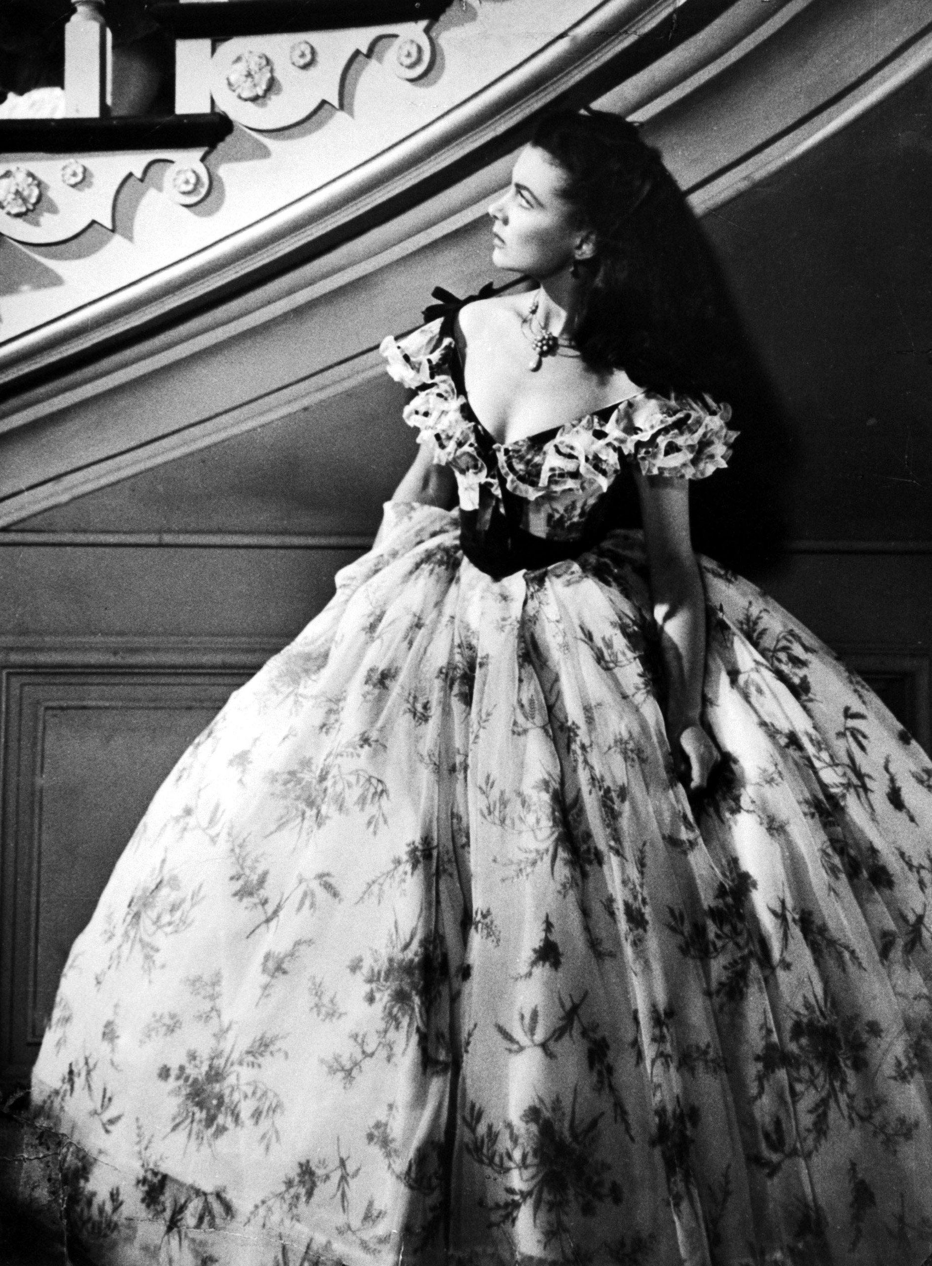 """If you're handy with a sewing machine, fashion an antebellum dress in the style of Vivien Leigh's Scarlet O'Hara in the 1939 classic """"Gone with the Wind.""""."""