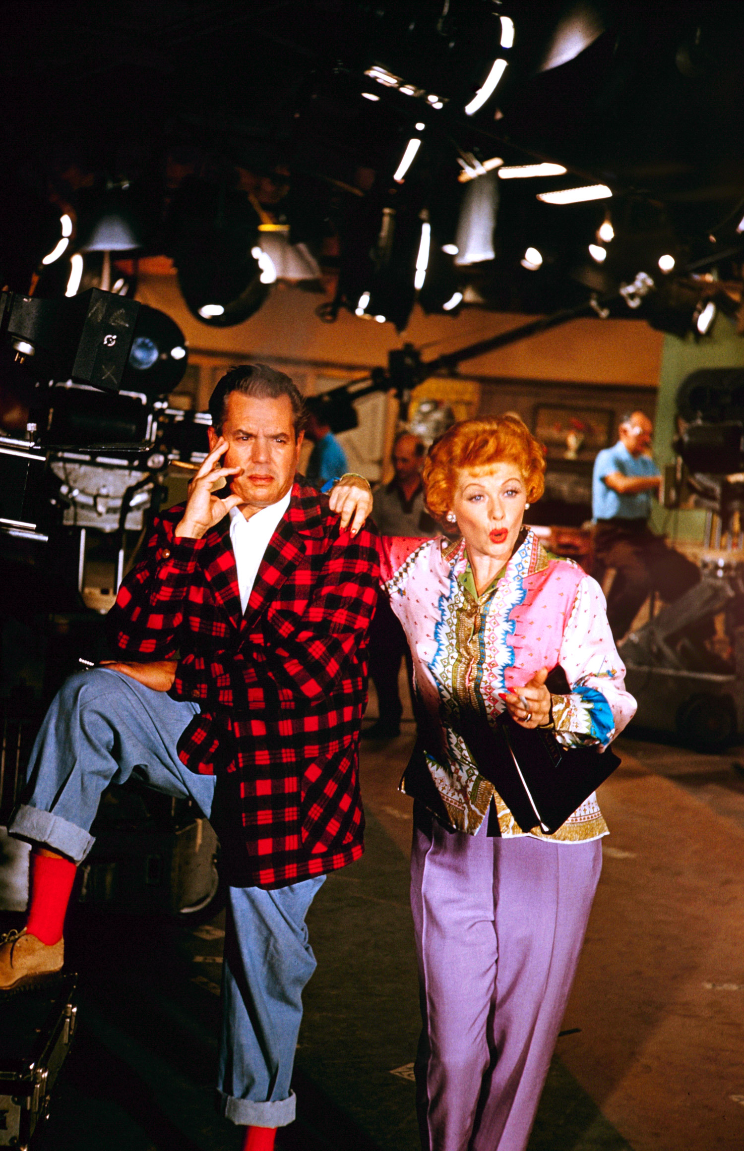 Red curls and spunk are the key ingredients to a Lucille Ball and Desi Arnaz couple costume (1958).