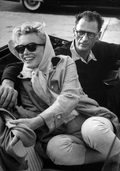 Marilyn Monroe and Arthur Miller 1956