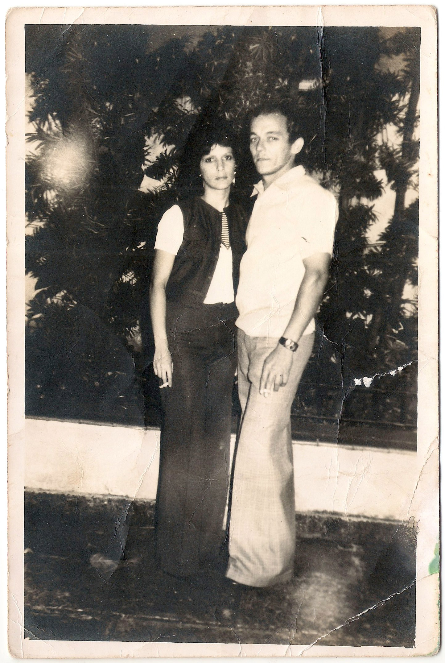 Juanito with his wife Barbara in Cuba; they had met when she was 13 years old. Barbara, concerned for her brother Hector who had left to the U.S., pled for Juanito to go and look after him. She expected they would be reunited shortly.