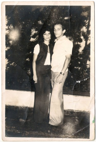 Juanito with his wife Barbara in Cuba; they had met when she was 13 years old. Barbara, concerned for her brother Hector who had left to the U.S., plead for Juanito to go and look after him. She expected they would be reunited shortly.
