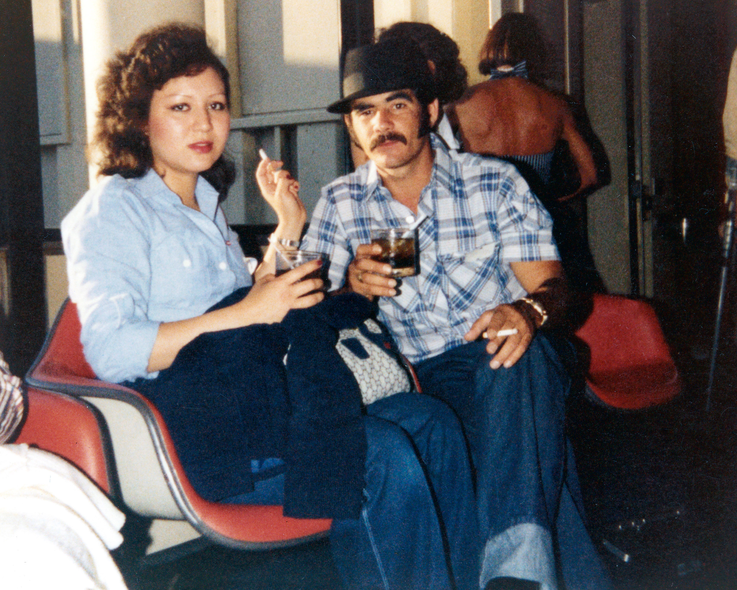 Silvio with a girlfriend in California. Silvio grew depressed and turned to drinking in the U.S. after leaving behind his wife and two daughters in Cuba. He says that Sira and Manuel Gonzalez and their children saved his life by welcoming him in California.