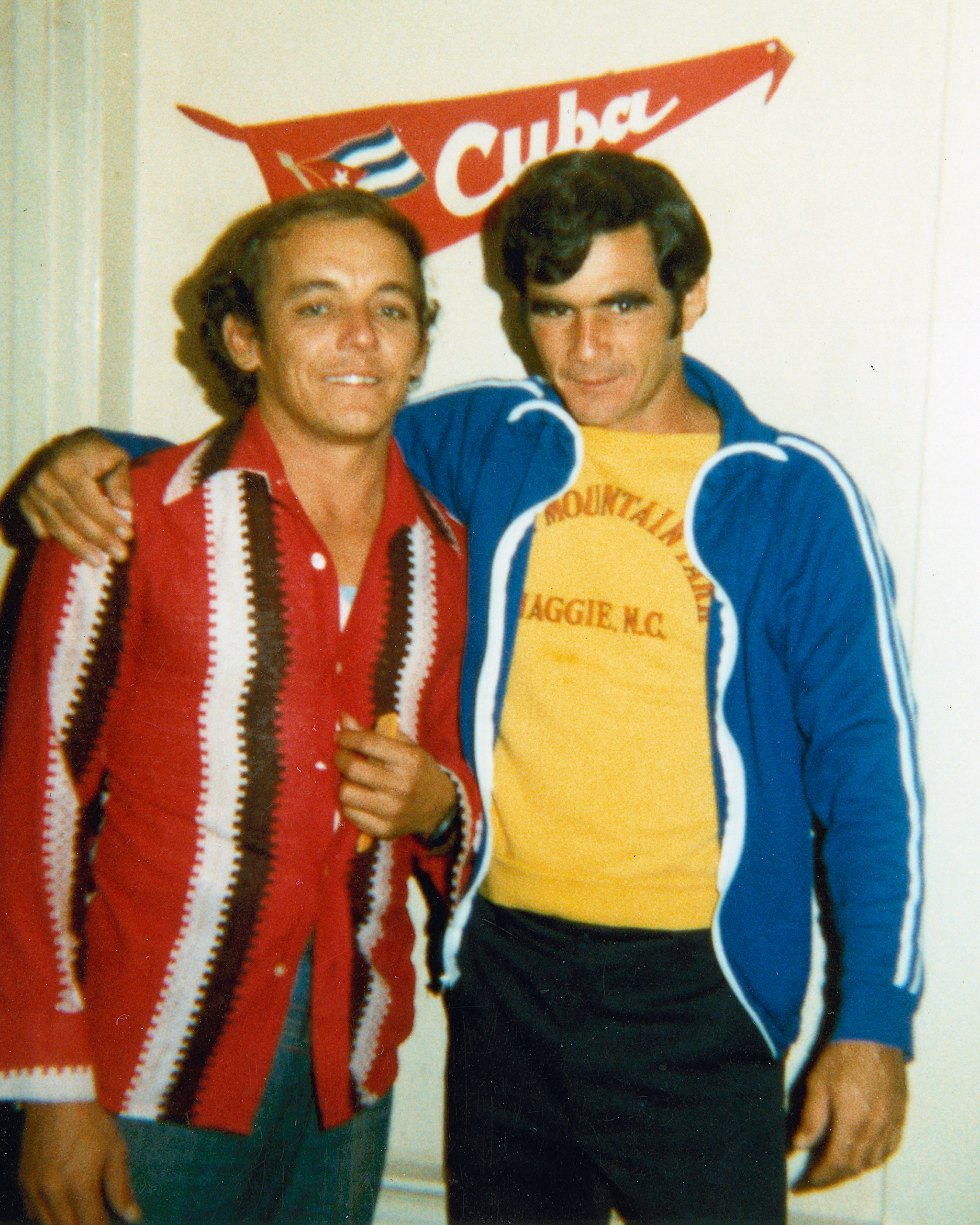 Juanito and Silvio in 1980, San Francisco. Both had just arrived to the U.S.