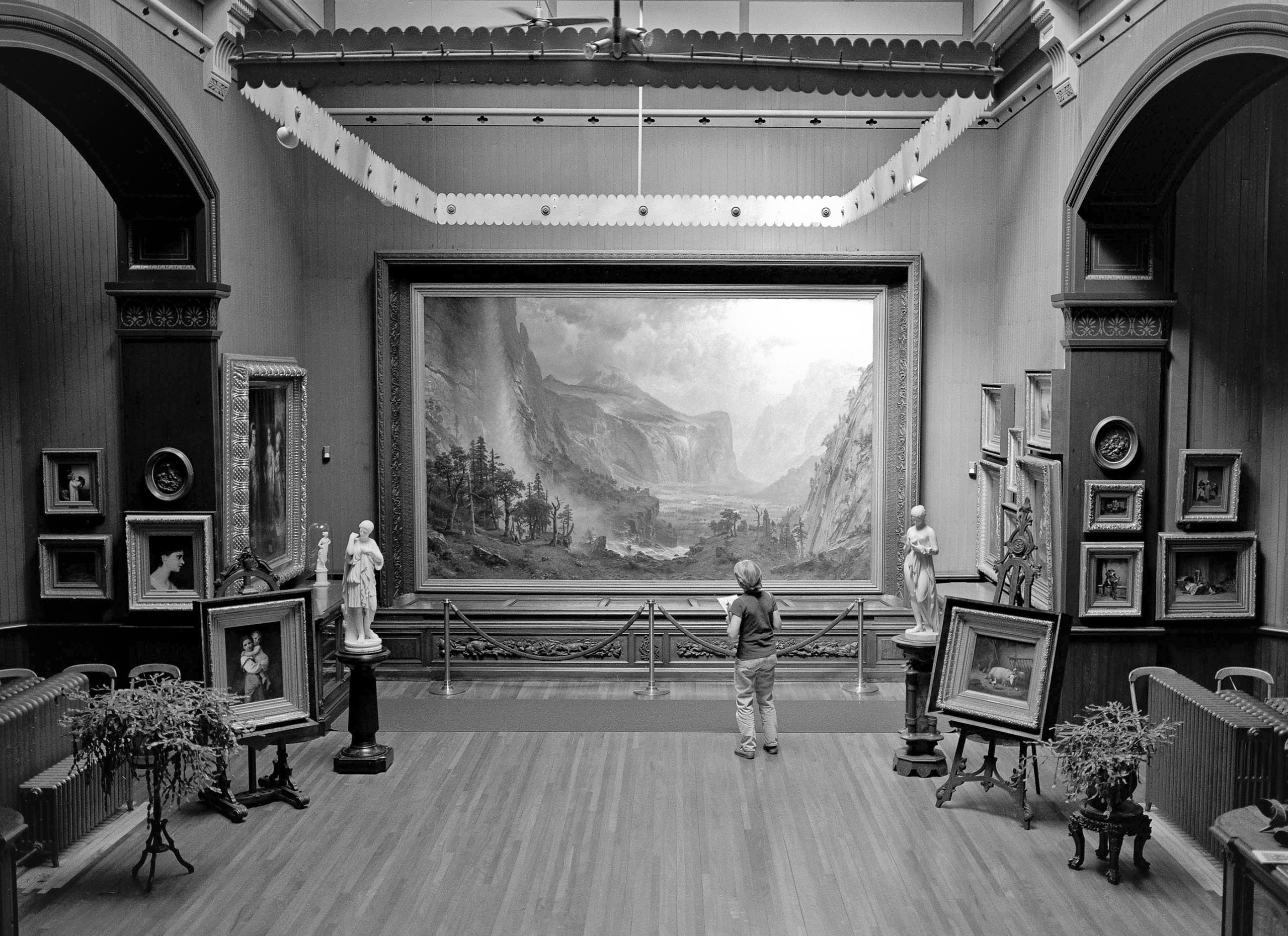 Athenaeum Library, St. Johnsbury, VT 2001        .                                                       The painting is by the famous nineteenth-century German-American artist Alfred Bierstadt of Yosemite Valley in California.