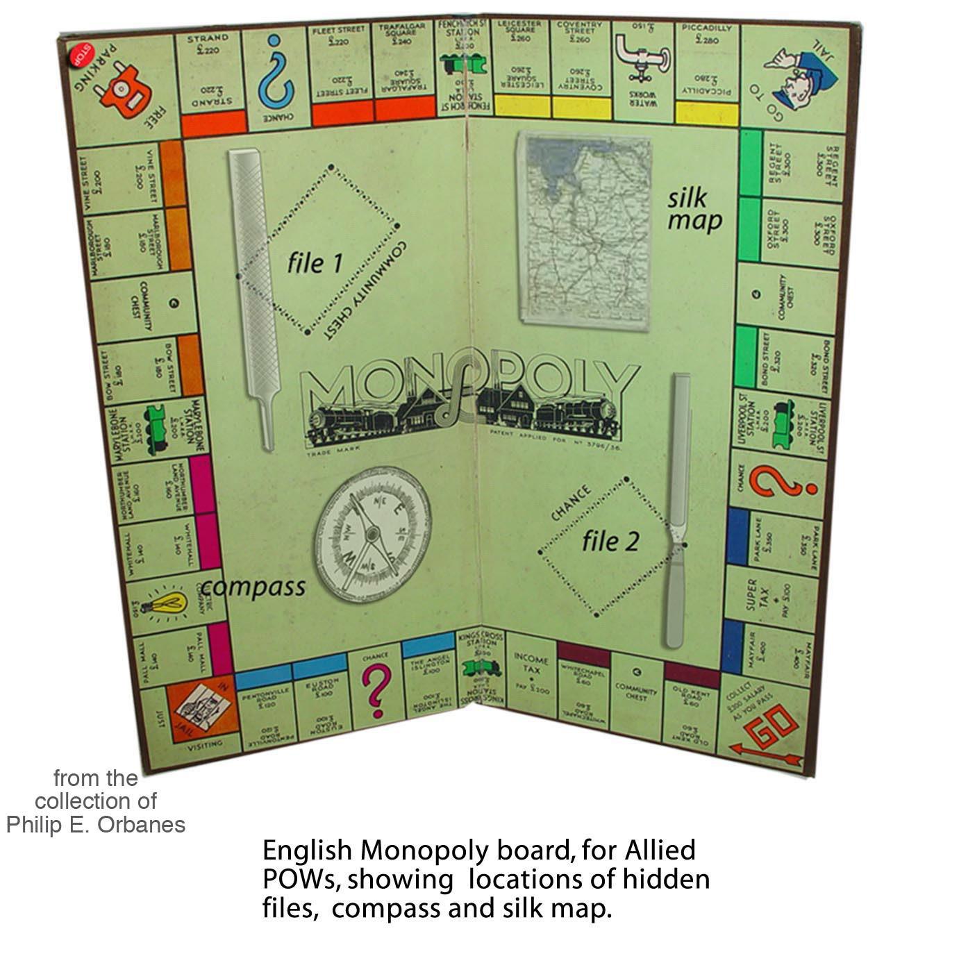 World War II Waddington's Monopoly Game