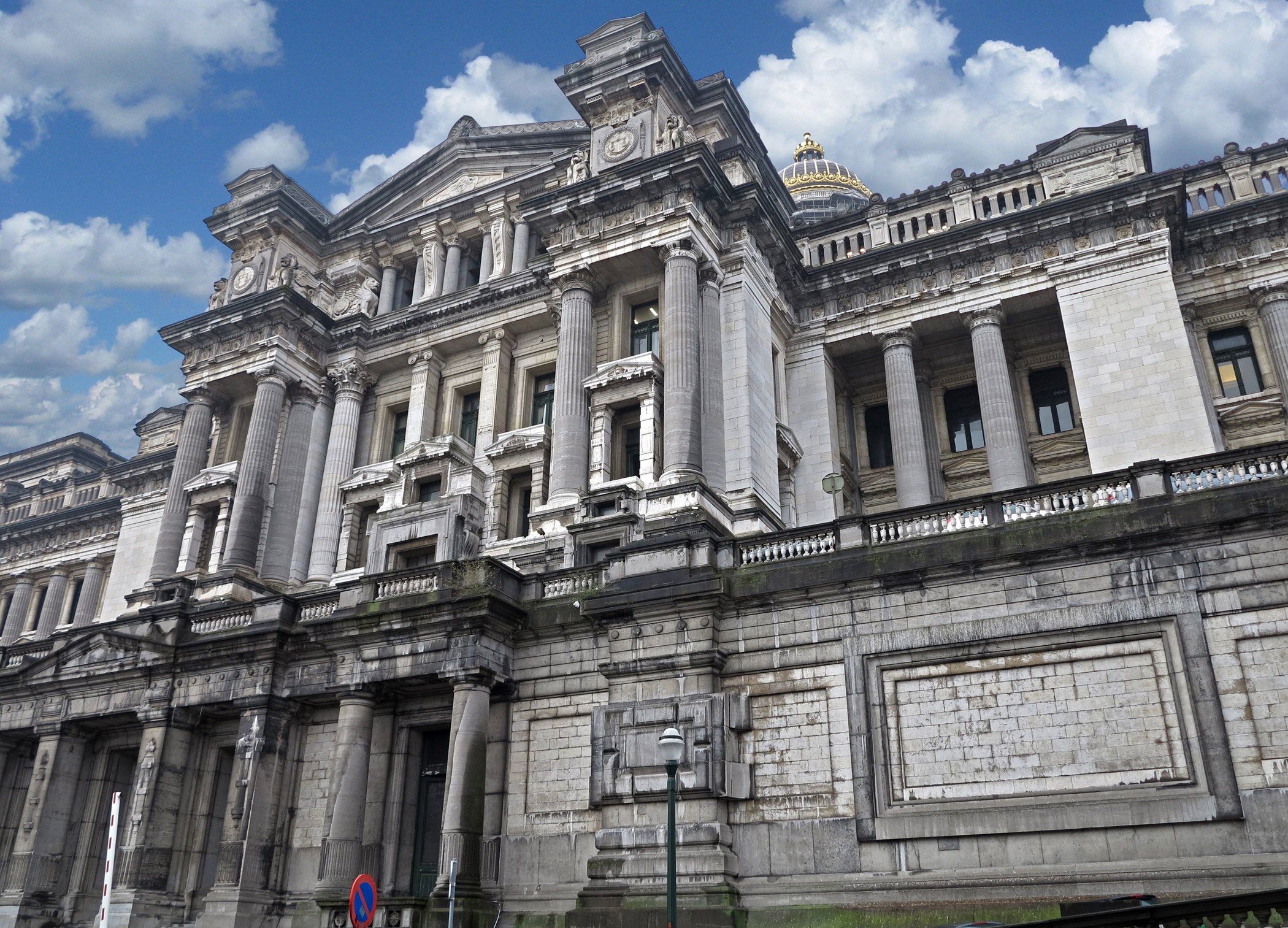 Belgium, Brussels                               Palace of Justice : The Brussels Palace of Justice is a victim of its enormous size that long caused it to be seen as a folly and needs a guarantee of its future and a ground-up rehabilitation.