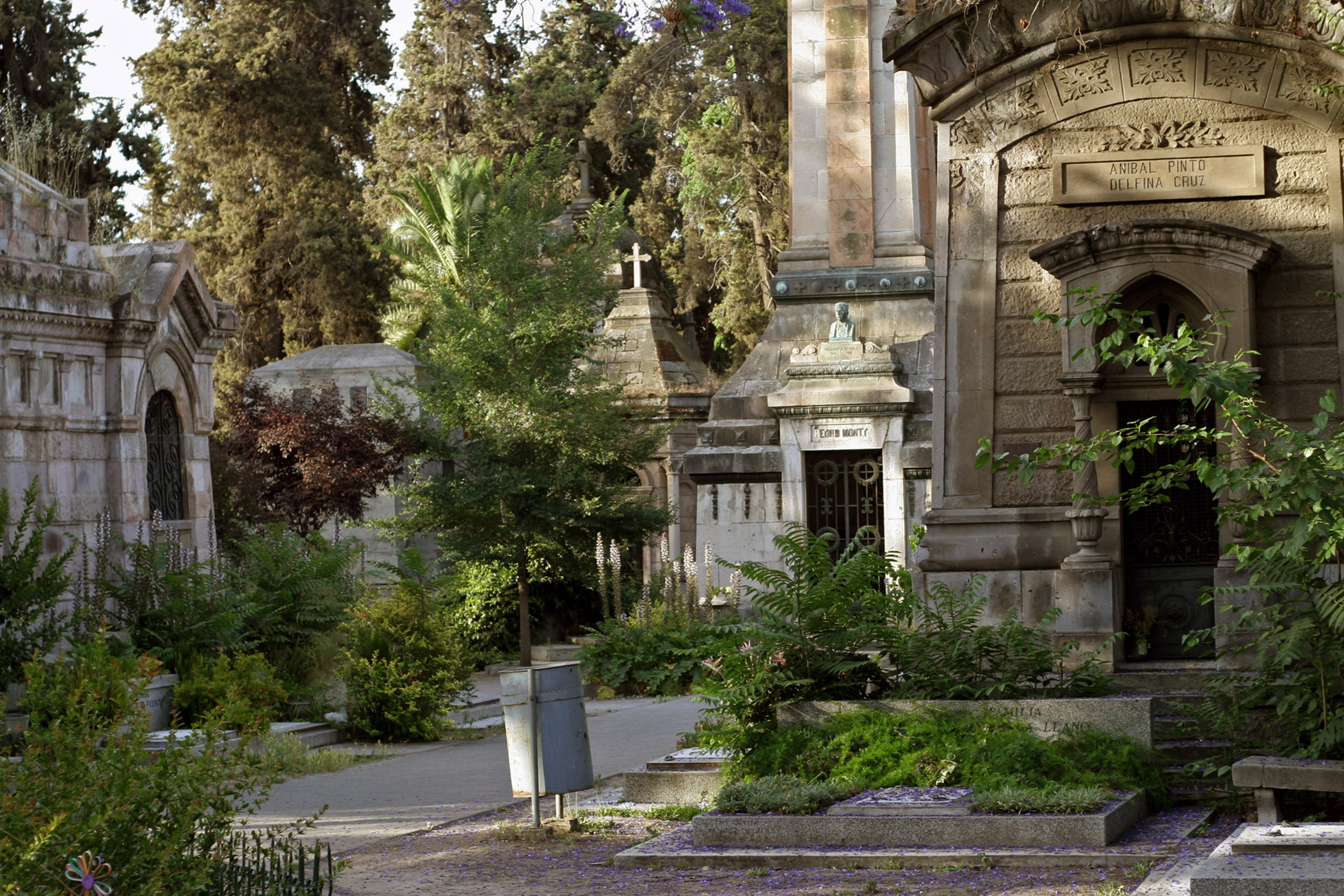 Chile, General                               Cemetery of Santiago: The burial place of presidents and hundreds of other luminaries, has borne the brunt of many earthquakes and is now neglected by the city.