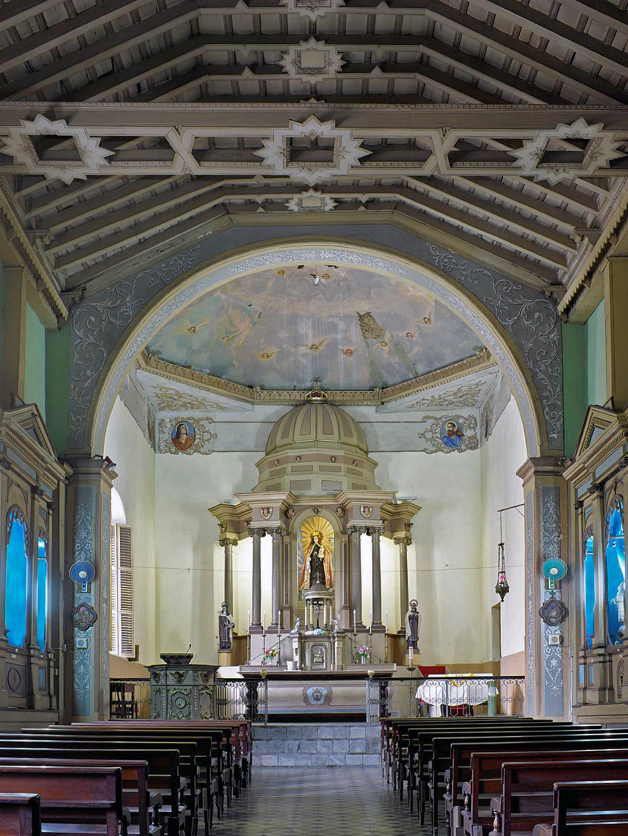 Cuba, Colonial                               Churches of Santiago                               de Cuba: The churches and their plazas have suffered from the impact of natural disasters and are currently endangered by a lack of resources that can be dedicated to conservation.