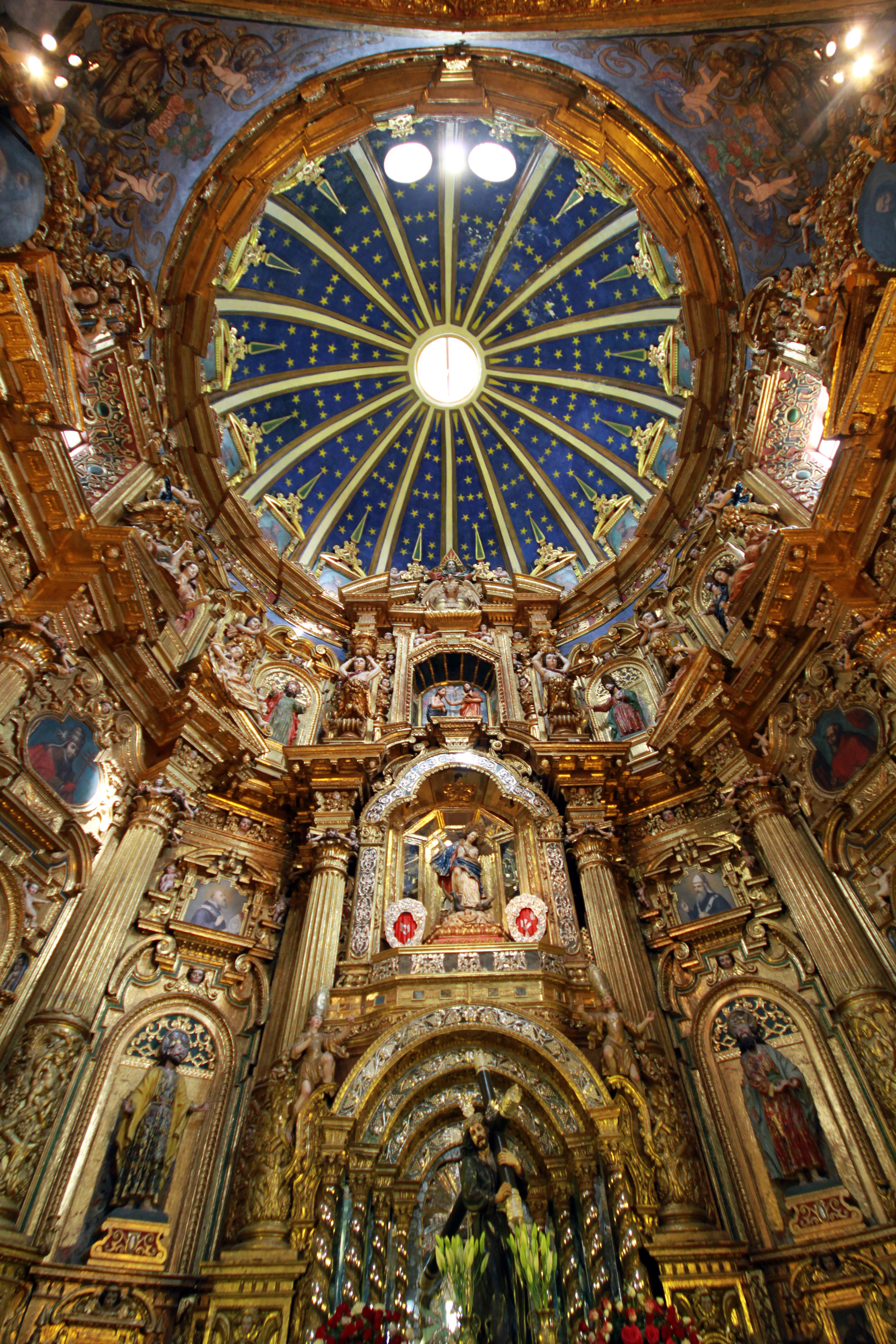 Ecuador, Church                               and Convent of San                               Francisco: The church is facing the pressure of balancing large numbers of worshippers and visitors with the needs of maintenance and upkeep.