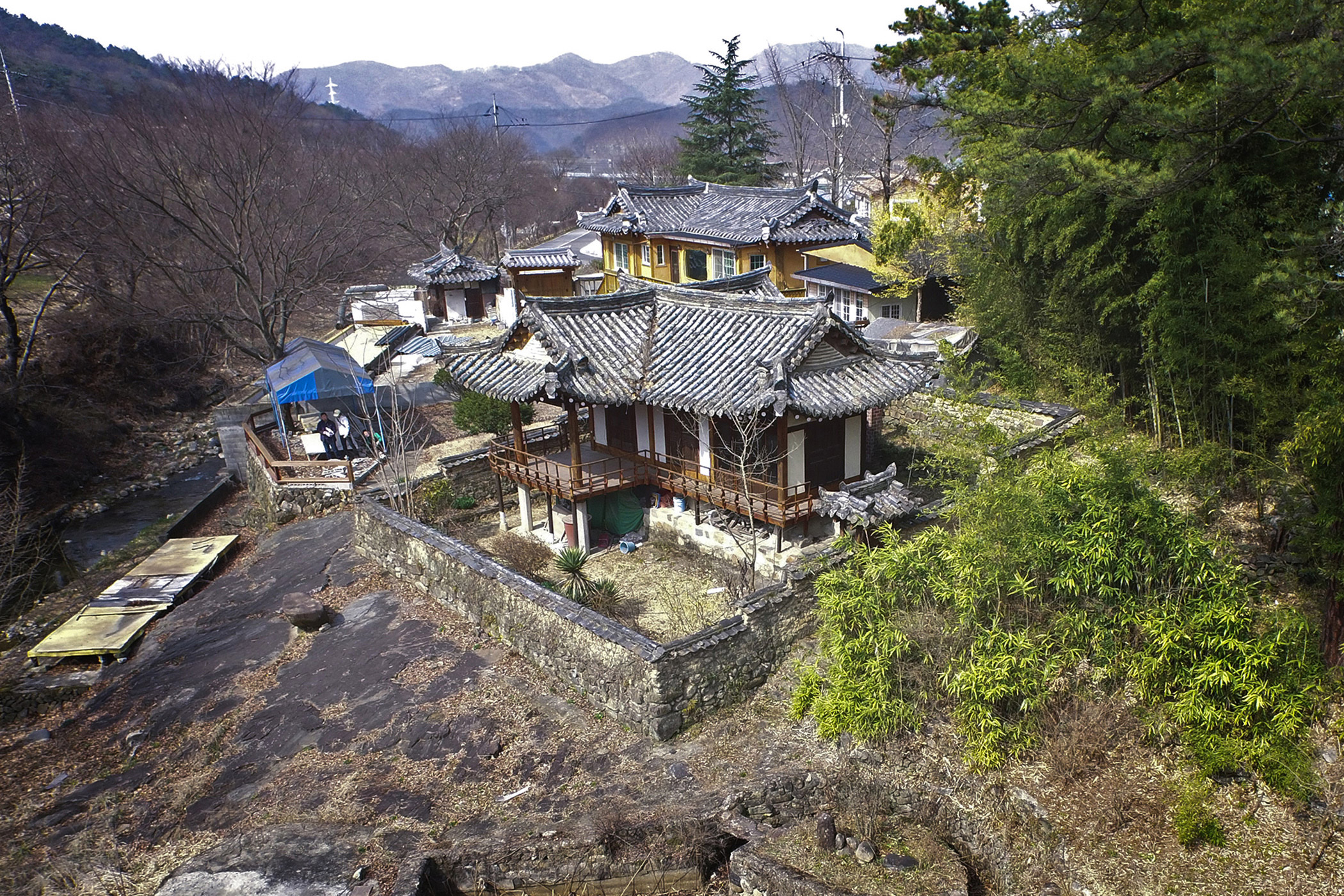 South Korea,                               Simwonjeong: Rising land values and a lack of legal protection are threatening Simwonjeong Pavilion, a marker of Korean national heritage, which could be irreversibly changed or even lost.