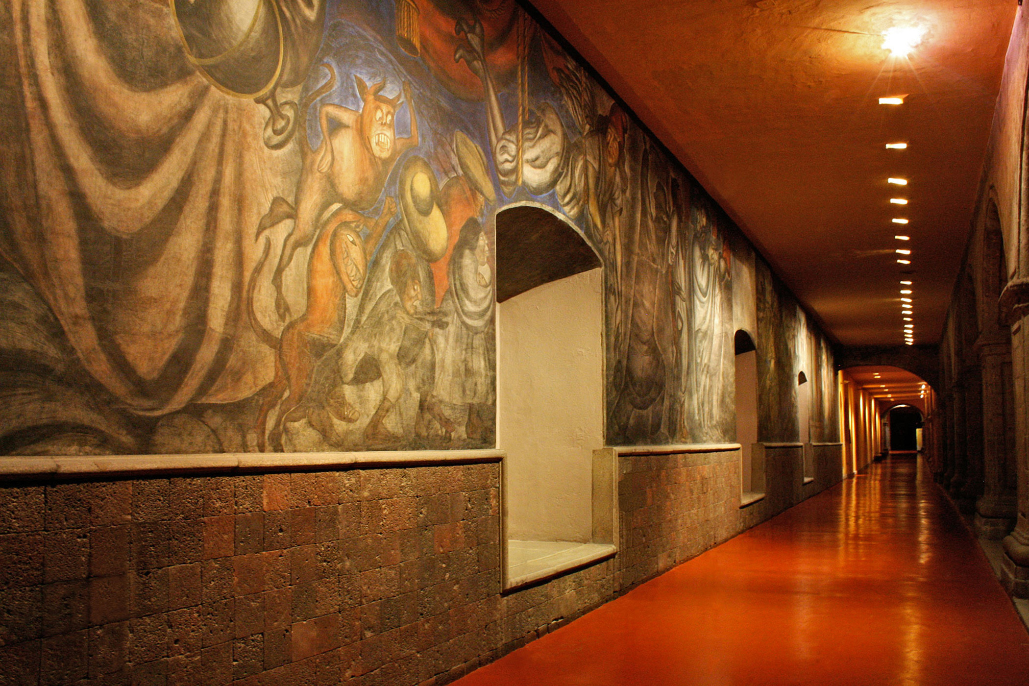 Mexico, Antiguo                               Colegio de San                               Ildefonso: A former Jesuit college that became the cradle of the Mexican muralist movement, is laden with outdated systems that hinder its function as a world-class exhibition space.
