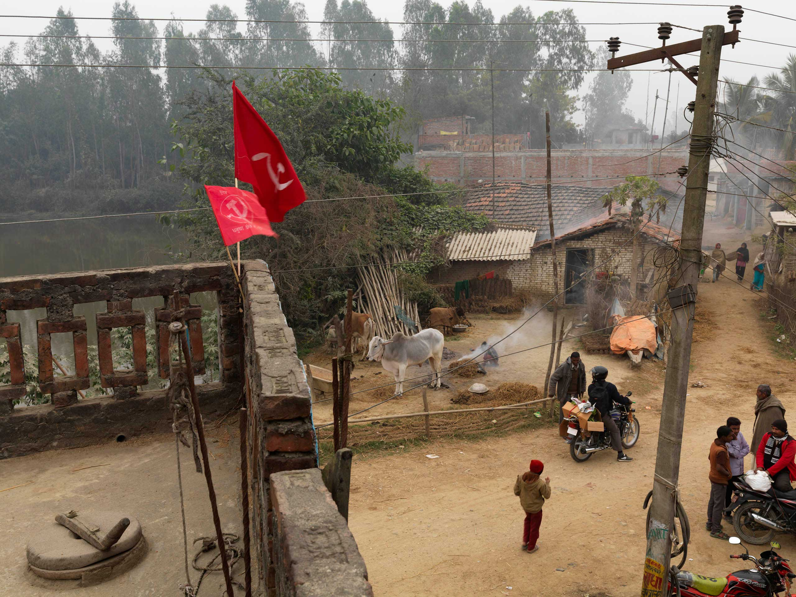 The CPN-UML (Marxist-Leninist) Regional (or Constituency) office in Aurahi VDC (village), Danusha district, Nepal. The party came in 3rd (after Nepali Congress and UML) in 2013 elections, with 80 of 575 elected seats.