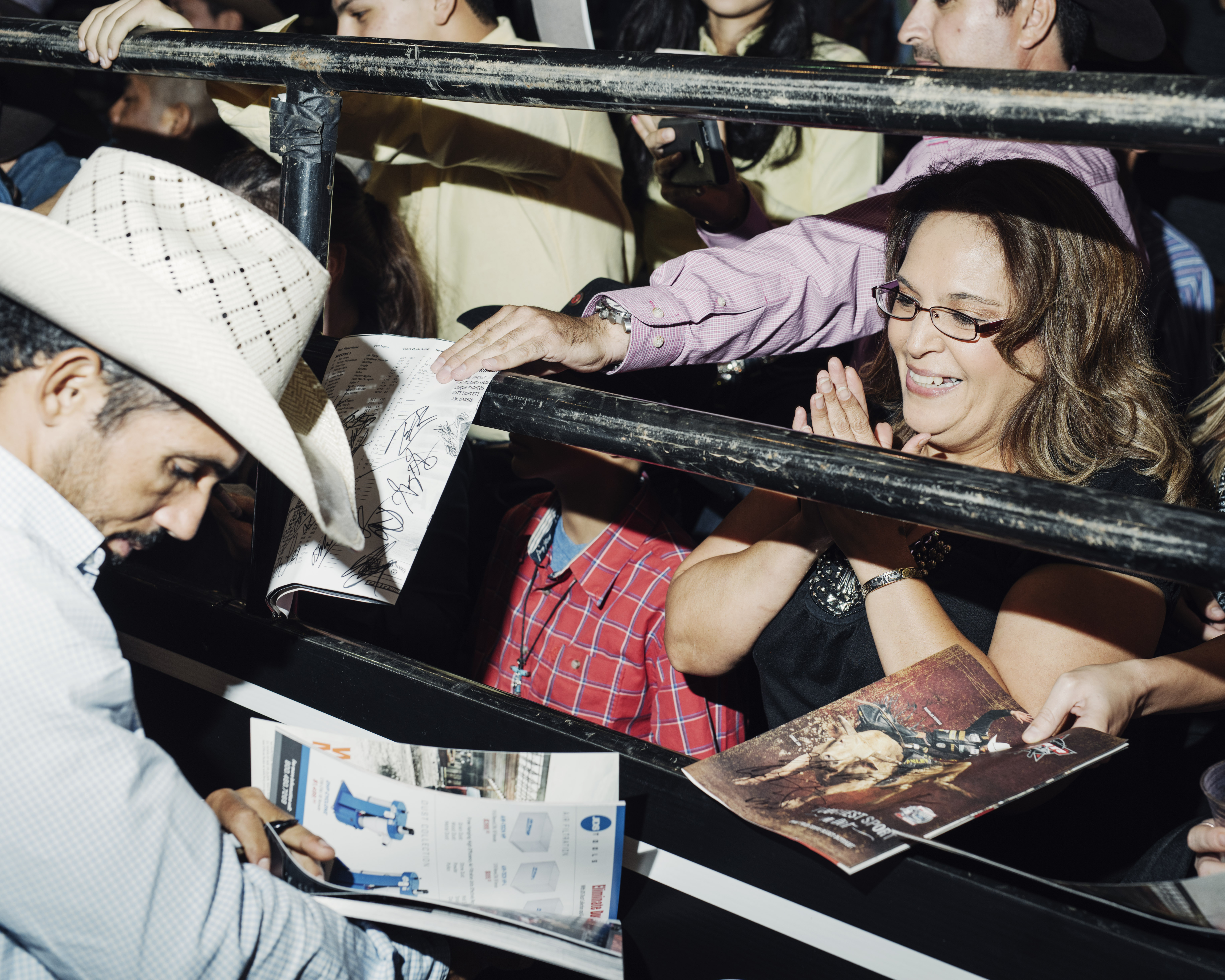 Rubens Barbosa signing autographs after the nights ride.  Tucson Convention Center, Tucson, Arizona, Saturday, October, 3