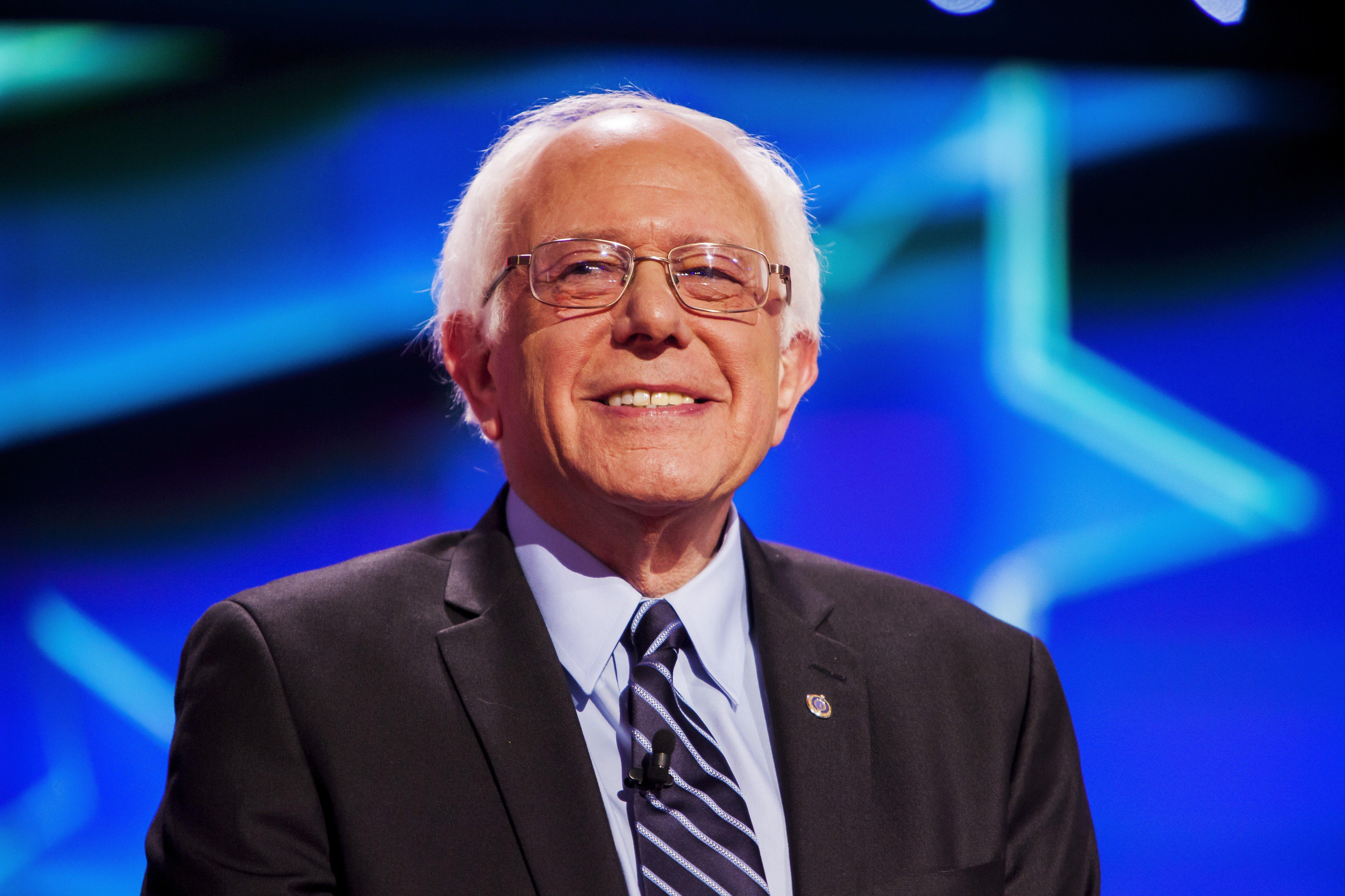 Bernie Sanders at the first Democratic Presidential Debate at the Wynn Hotel in Las Vegas on Oct. 13, 2015.