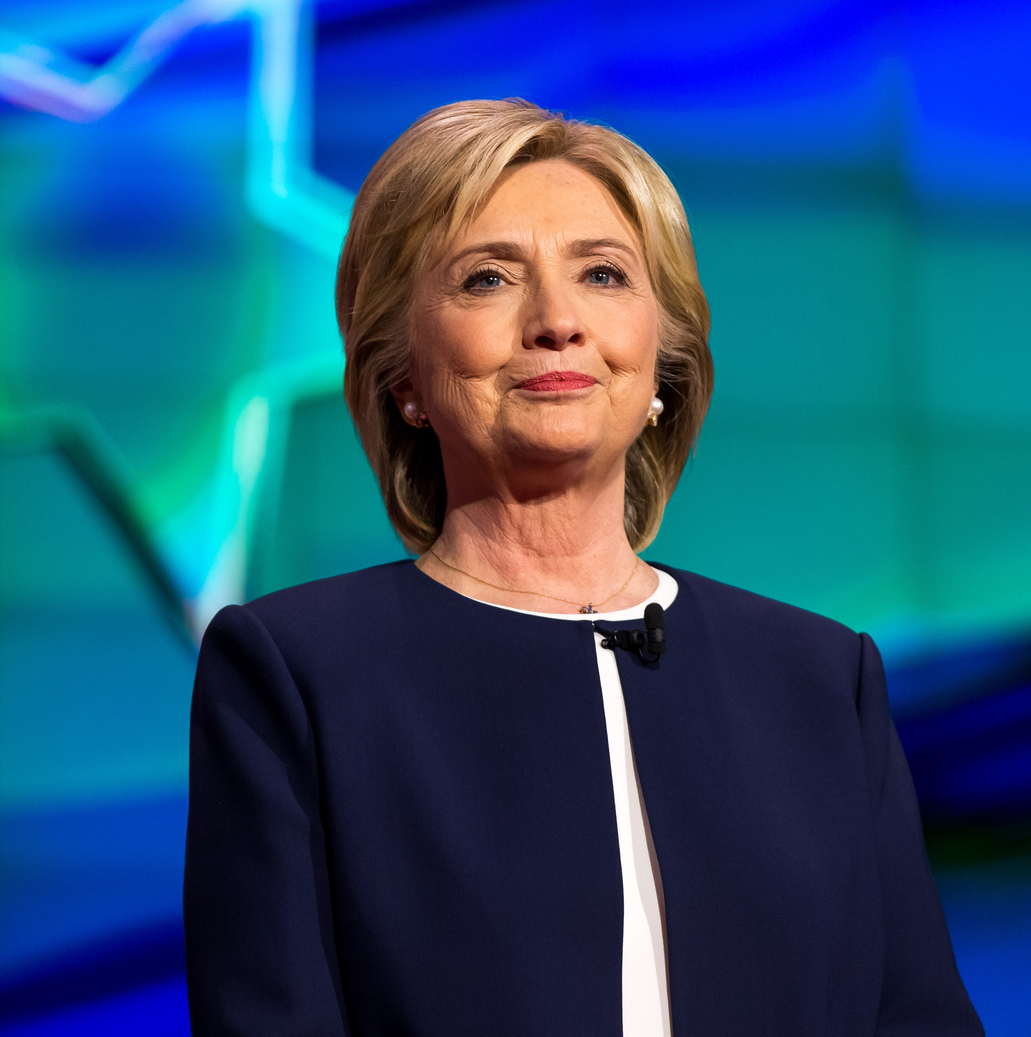 Hillary Clinton pictured at the 2015 CNN Democratic Presidential Debate at Wynn Resort in Las Vegas, NV on Oct. 13, 2015.