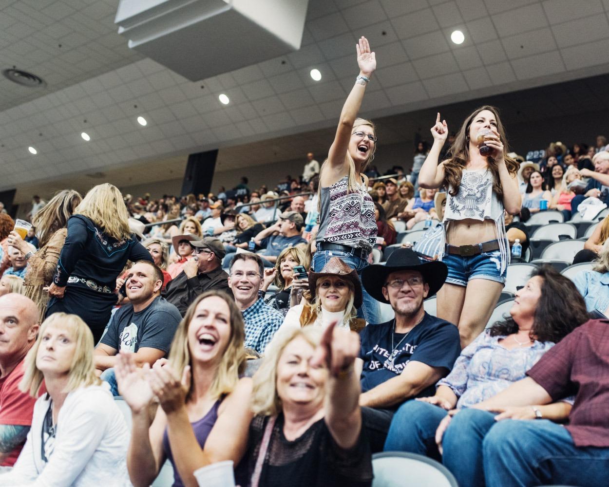 The crowd at the Tucson Convention Center, Tucson, Arizona, Saturday, October, 3