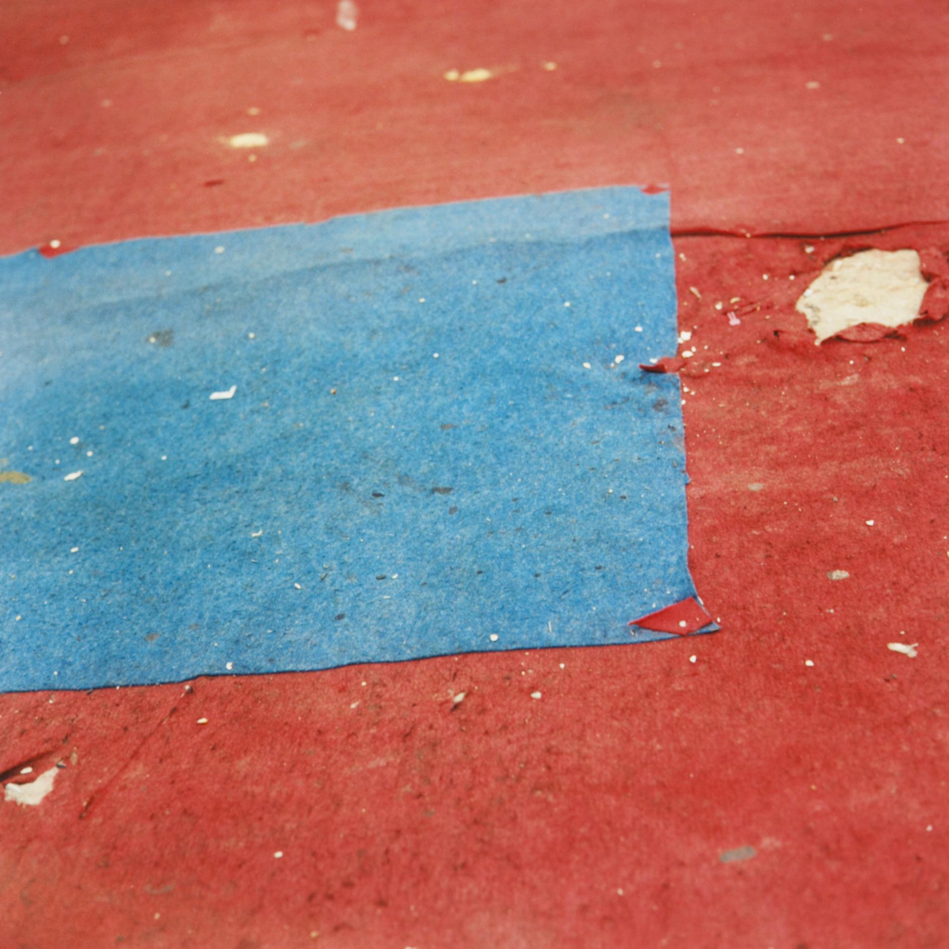 Untitled (felt circus flooring, Tangier), 2013-2015.