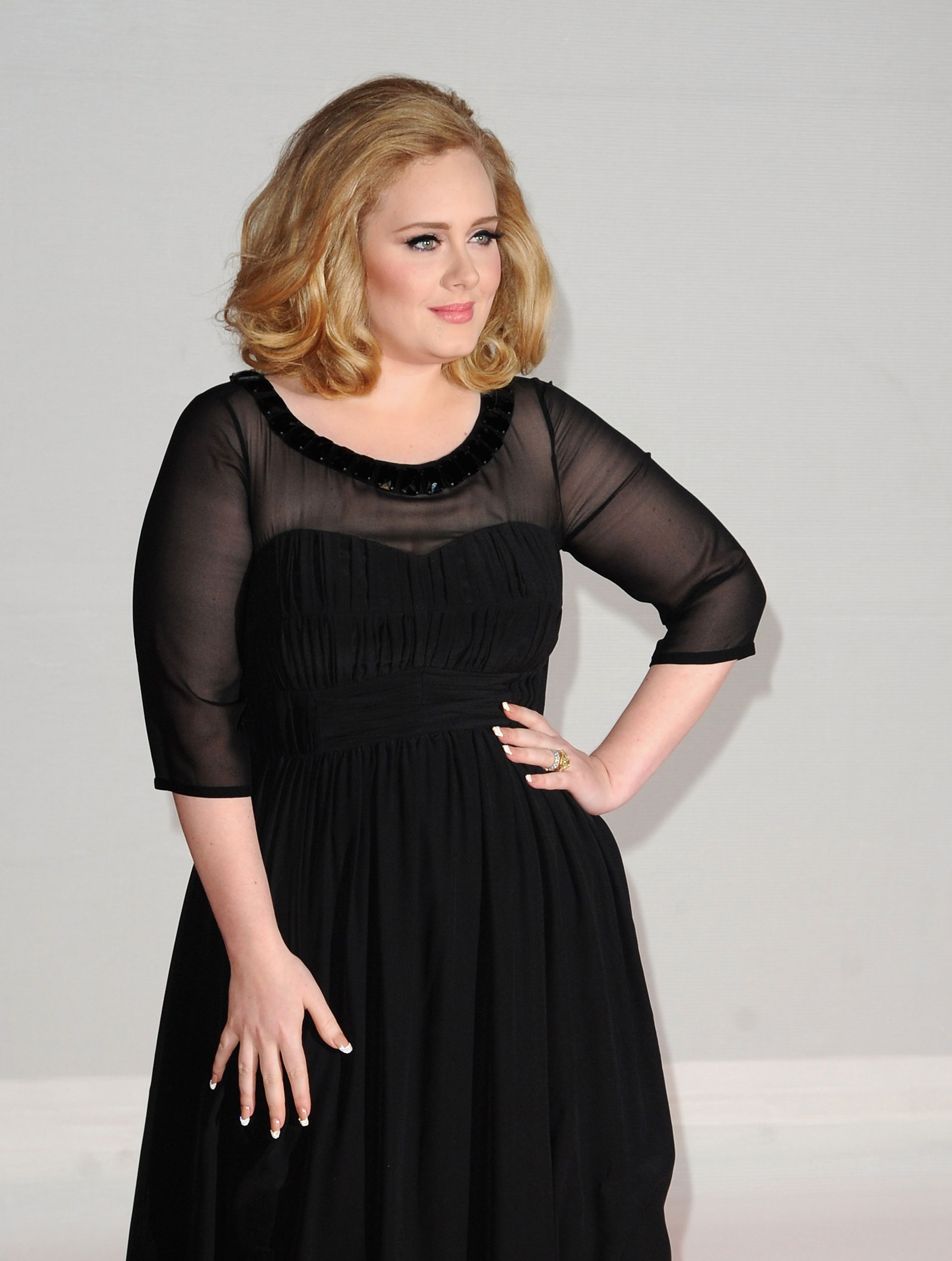 Adele at The BRIT Awards in London on Feb. 21, 2012.