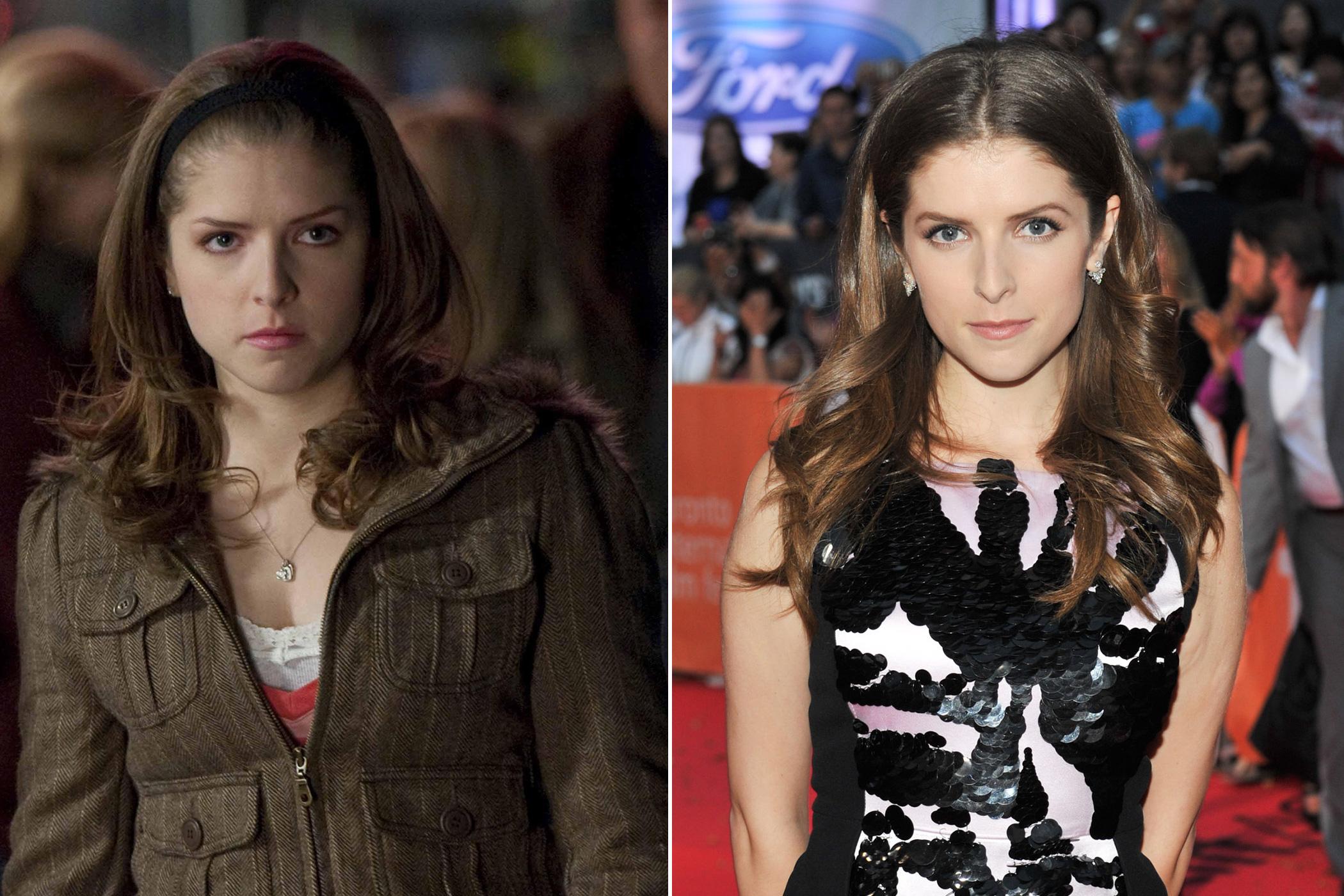 <i>Left</I>: Anna Kendrick as Jessica in <i>The Twilight Saga: The New Moon</i>, 2009; <i>Right</i>: in 2015