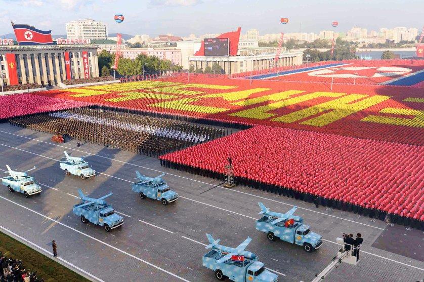 N. Korea holds military parade