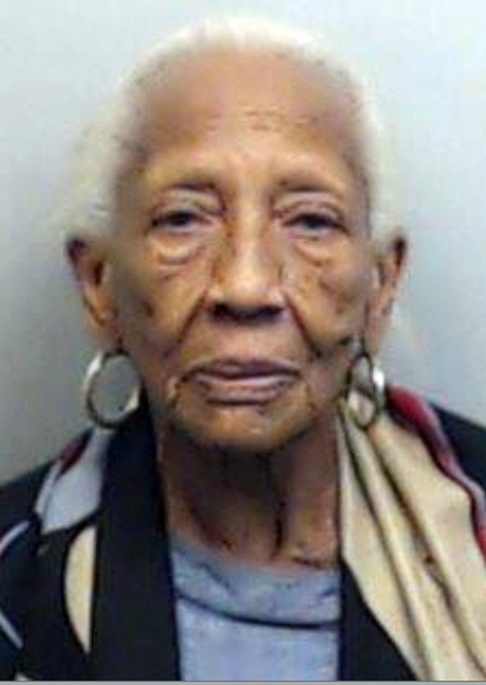 Doris Payne, 85, who was arrested Oct. 23, 2015, at an upscale shopping mall in Atlanta