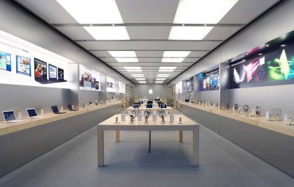 An Apple store in The Arndale Centre in Manchester, England.