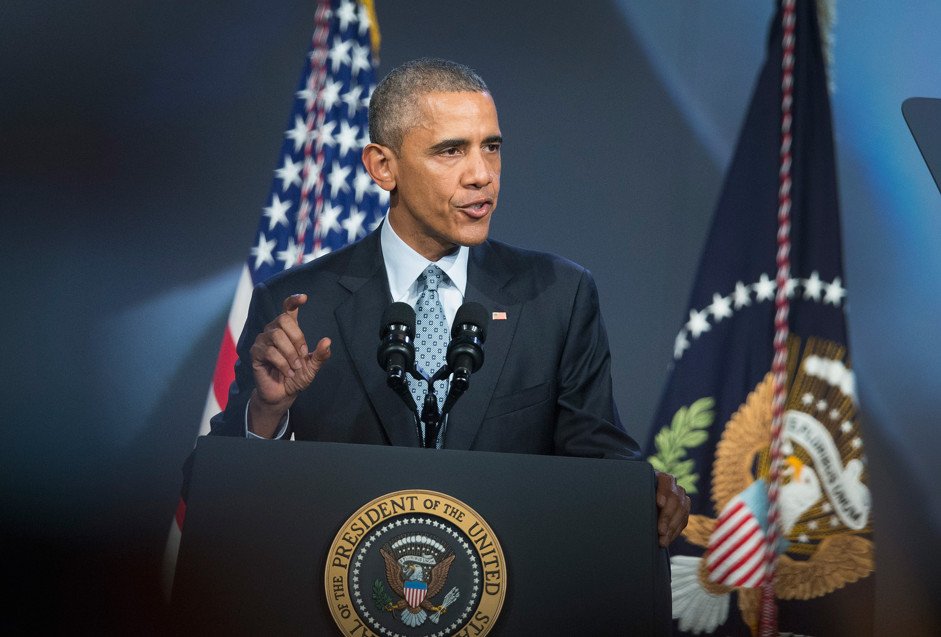 President Barack Obama is pictured on Oct. 27, 2015 in Chicago.