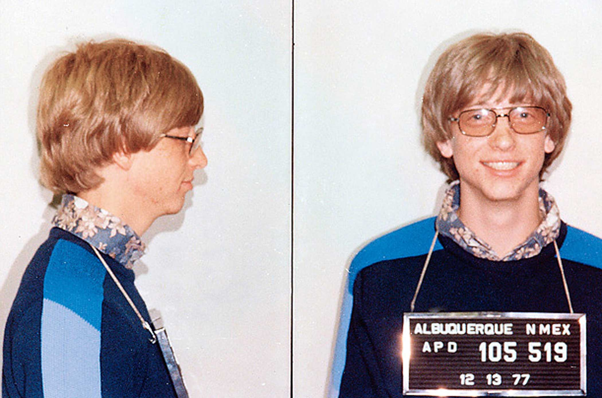 In 1977, Gates was arrested by New Mexico police for speeding.