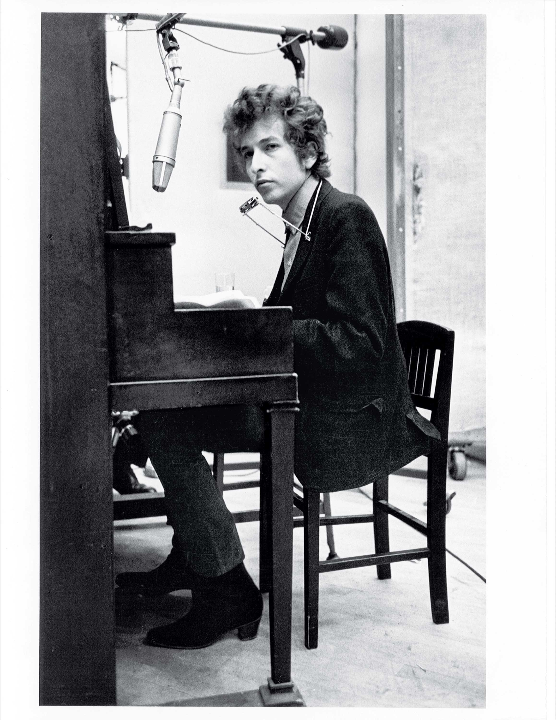 Dylan recording Highway 61 Revisited in New York City, 1965