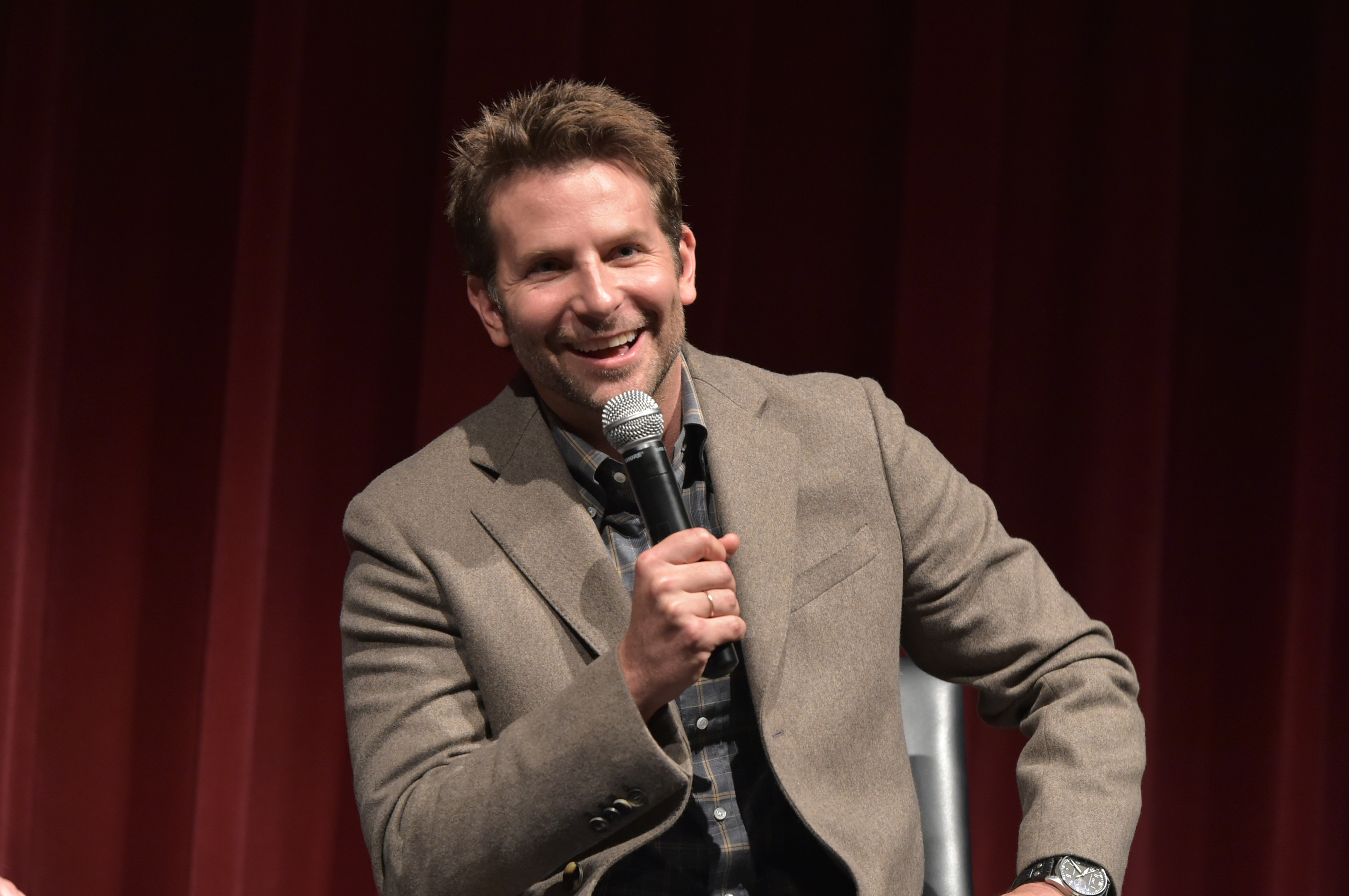 Bradley Cooper at the Private Screening Of  Burnt,  Q&A Panel And Reception during New York City Wine & Food Festival in New York City on Oct. 18, 2015.
