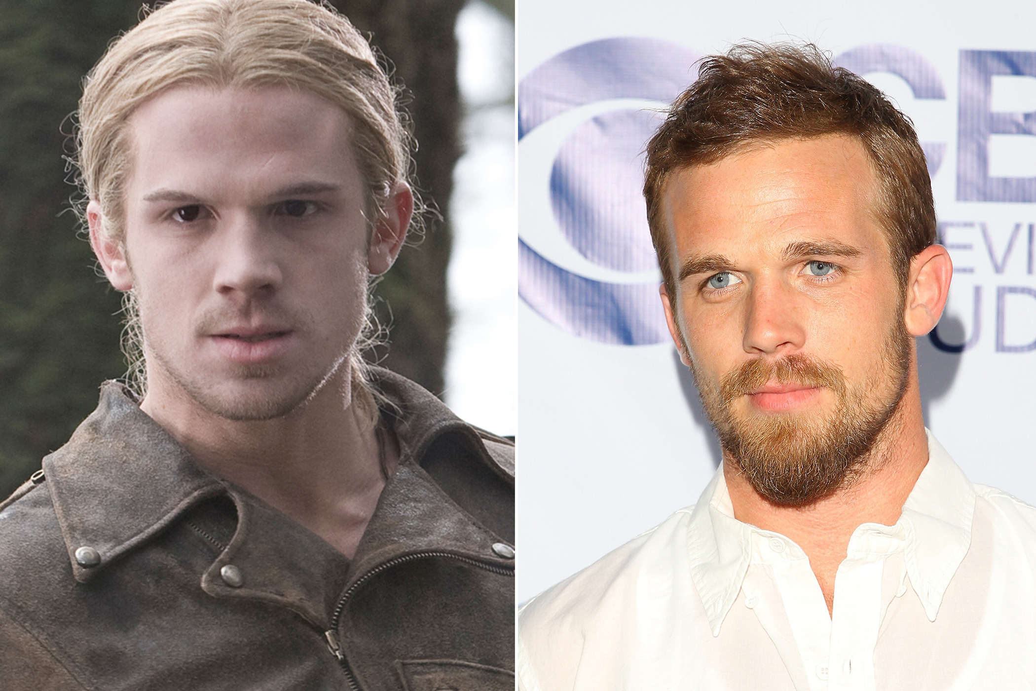 <i>Left</I>: Cam Gigandet as James in <i>Twilight</i>, 2008; <i>Right</i>: in 2014