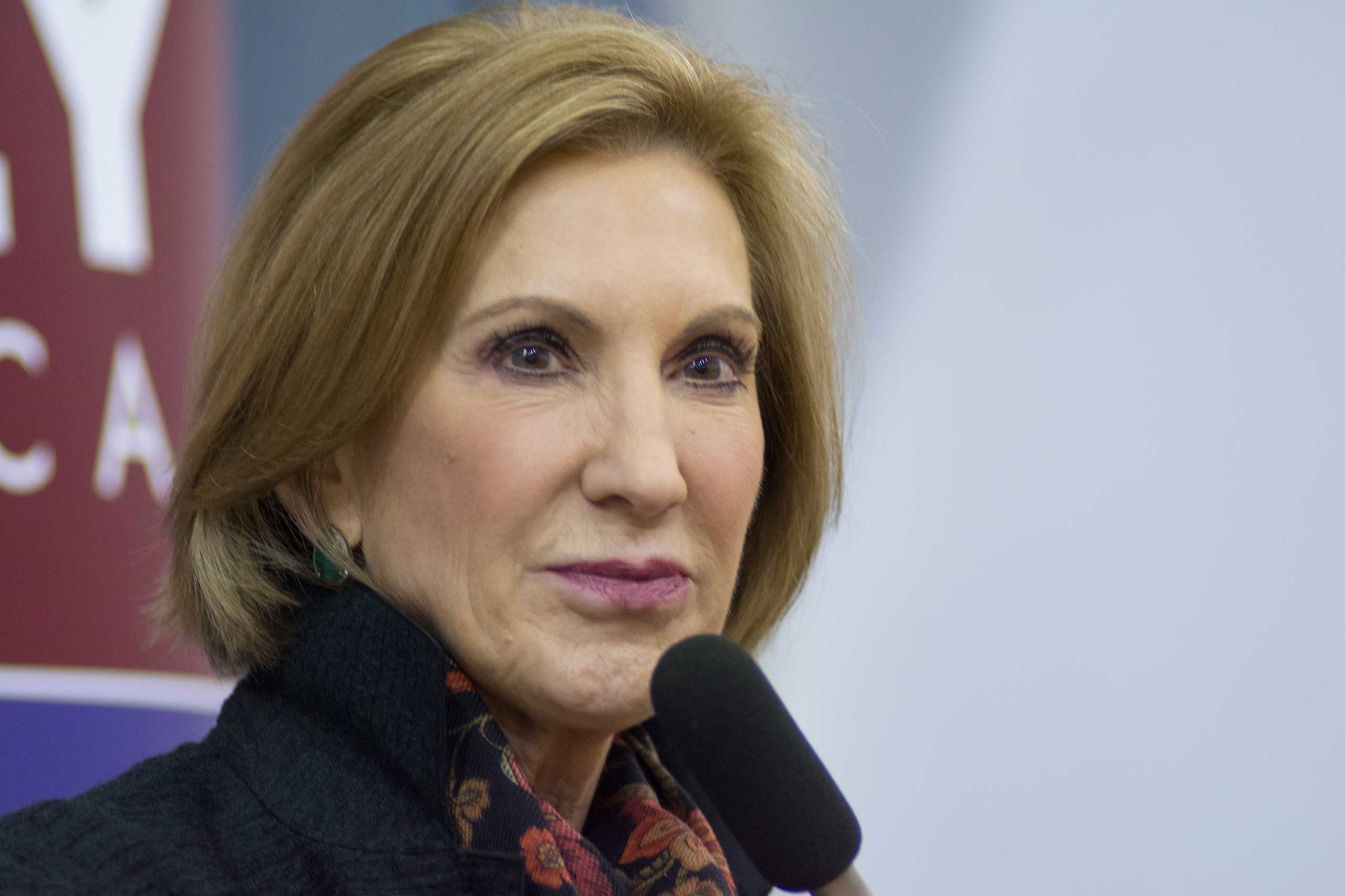 Republican presidential candidate Carly Fiorina speaks at a campaign event hosted by the Seacoast Republican Women in Portsmouth, New Hampshire, on Oct. 3, 2015.