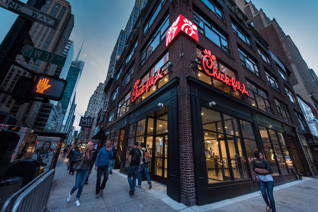 Chick-fil-A's first self-standing Manhattan location.