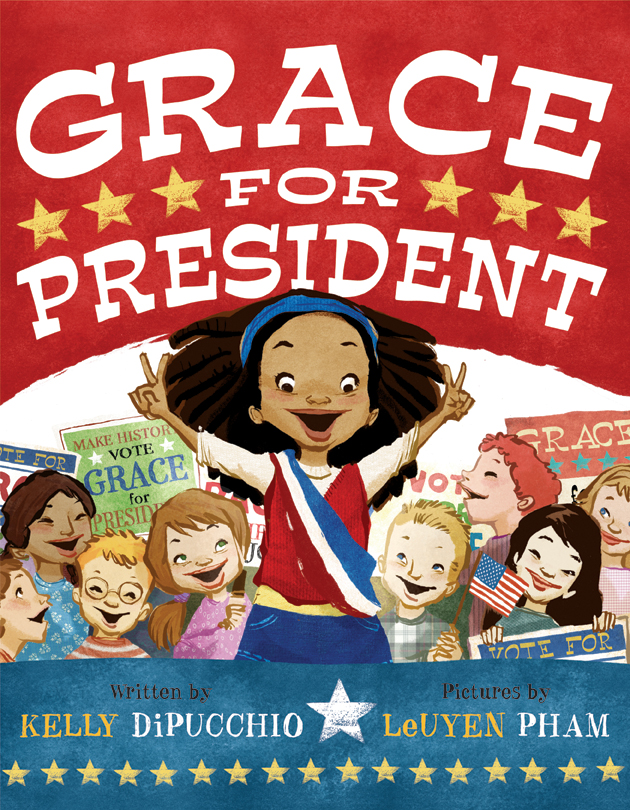 The 2008 children's book  Grace for President  is about a girl who asks why there have never been any female presidents.