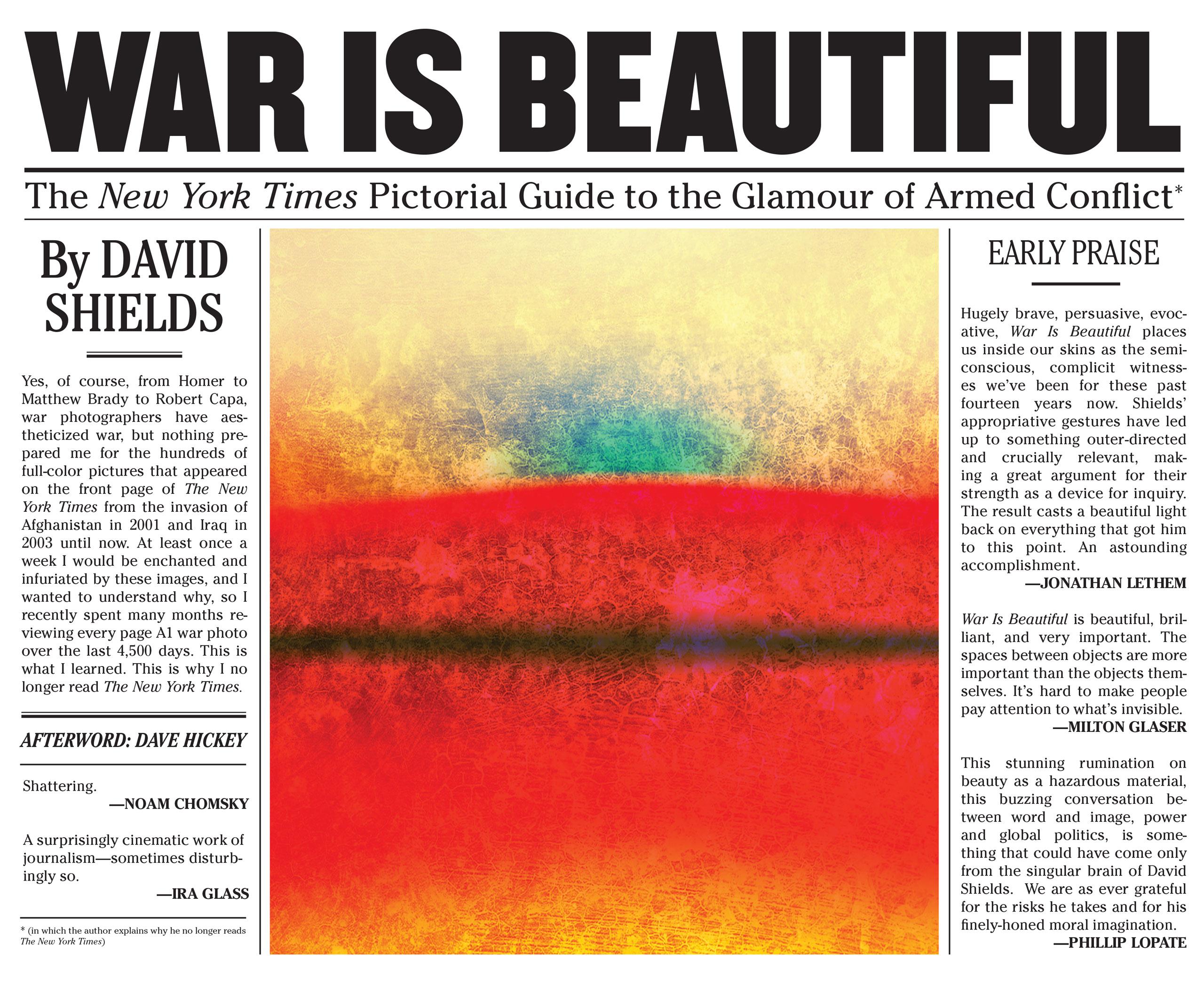 War is Beautiful by David Shields