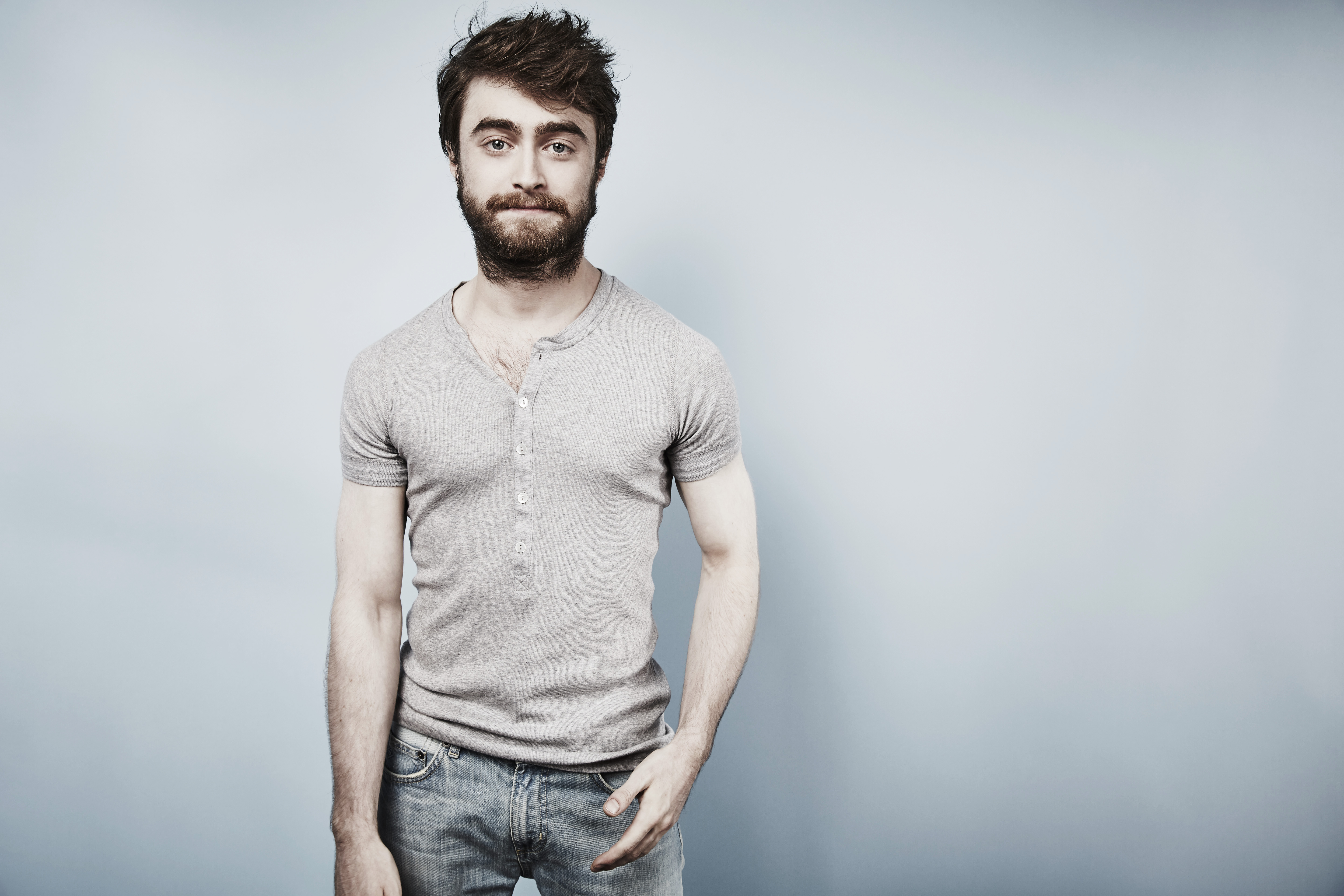 Actor Daniel Radcliffe poses for a portrait in San Diego on July 11, 2015.