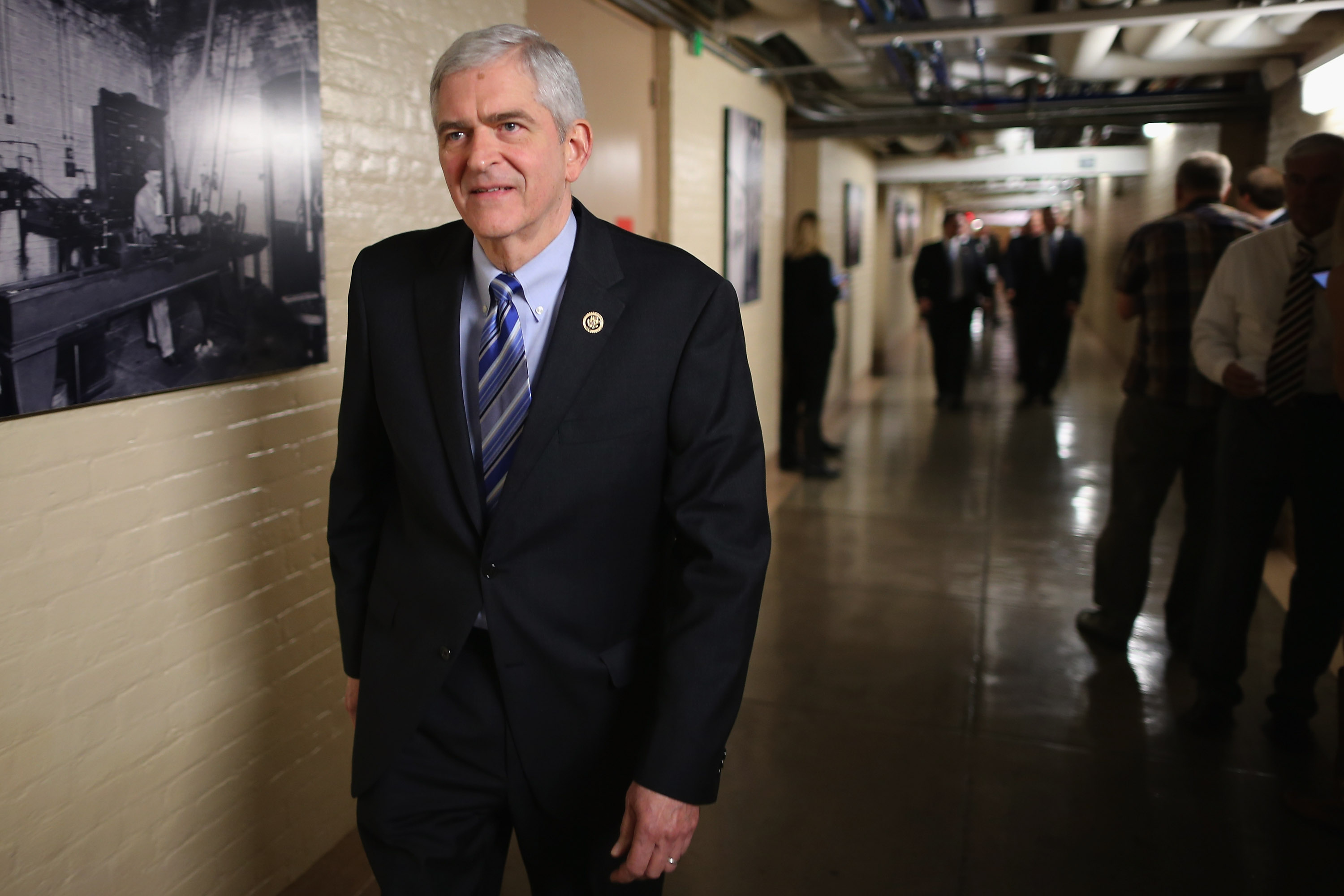 Rep. Daniel Webster (R-FL) heads for a House Republican caucus meeting in the basement of the U.S. Capitol in Washington, D.C., on Oct. 9, 2015.