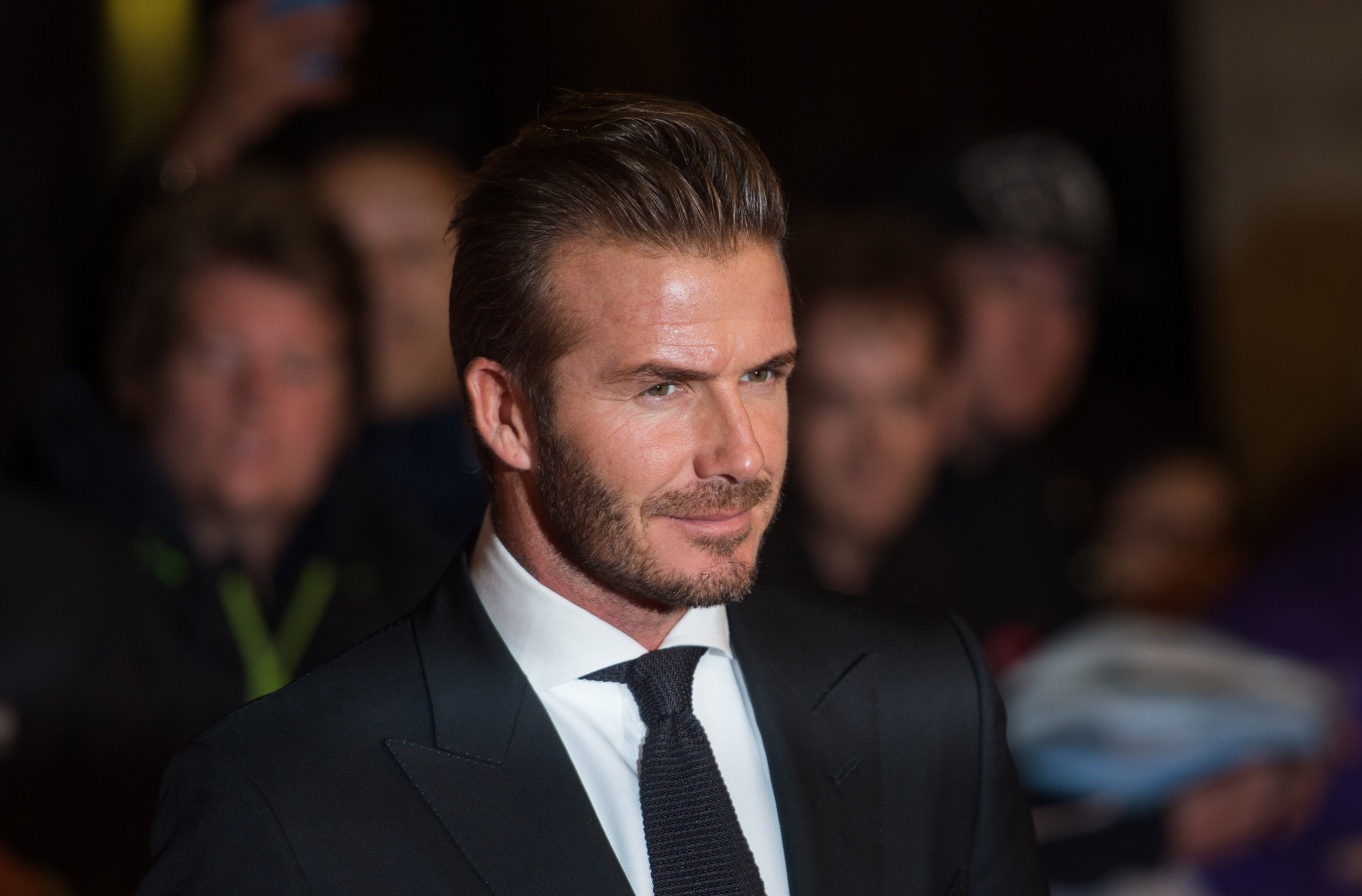 David Beckham attends the Pride of Britain awards at The Grosvenor House Hotel in London on Sept. 28, 2015 .