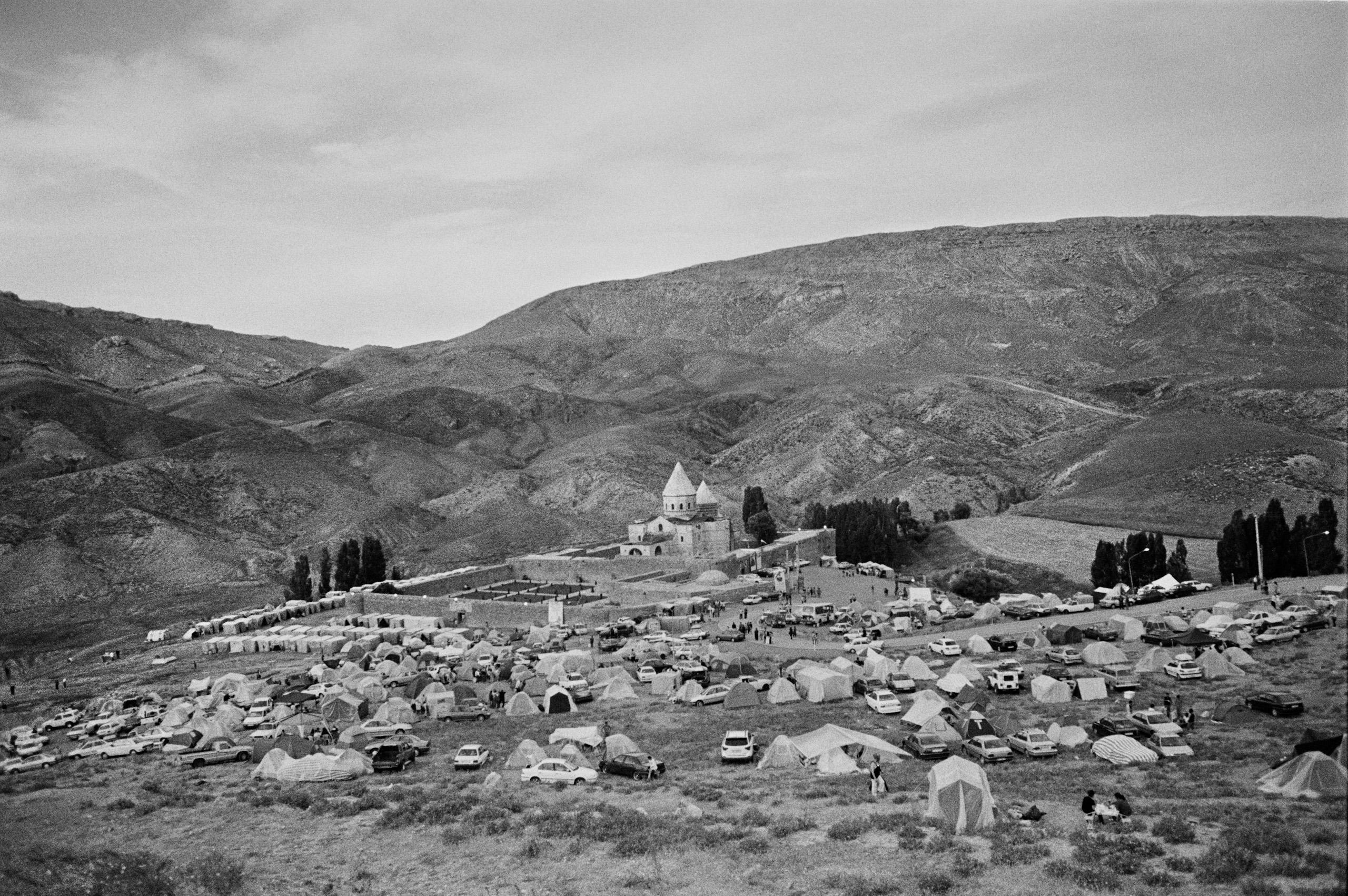 Saint Taddeus monastery, Iran. The yearly Armenian pilgrimage. July 2011.