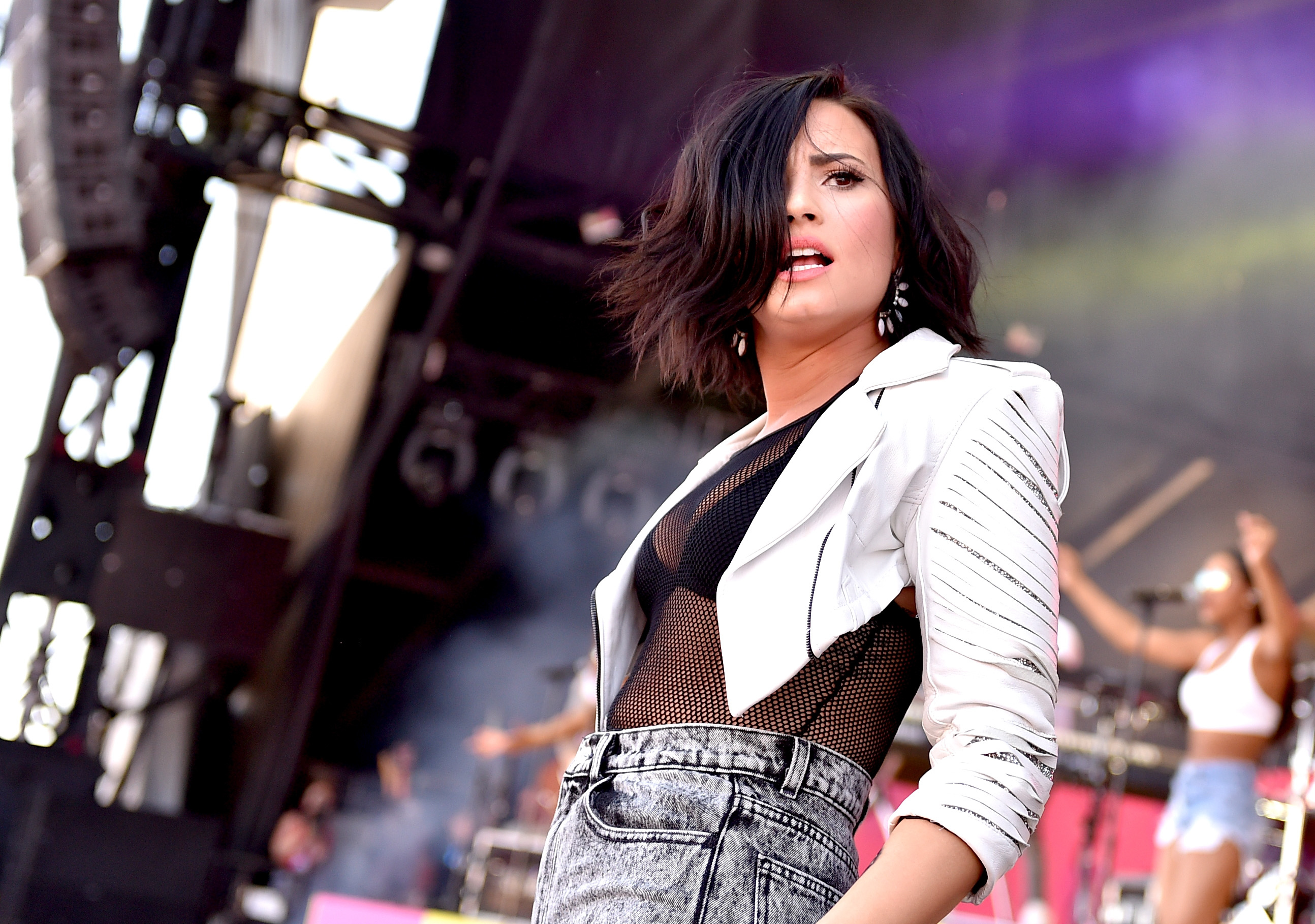 Demi Lovato performs onstage at The Daytime Village on Sept. 19, 2015 in Las Vegas.