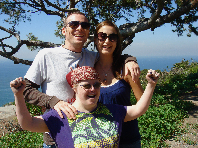 Brian, Tempany and Kelly Donovan in Rancho Palos Verdes, California in 2008.