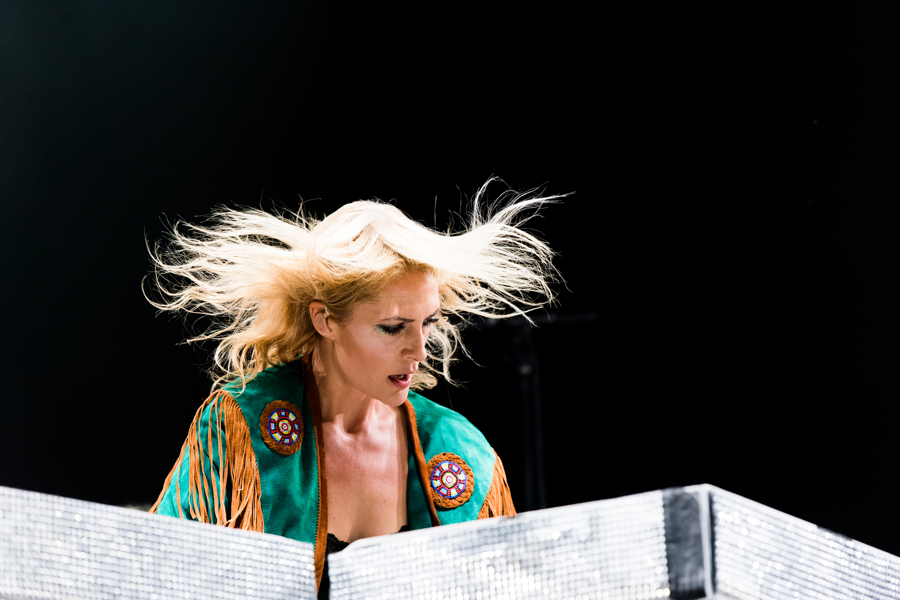 Emily Haines of Metric performs on stage during 2015 Music Midtown at Piedmont Park on Sept. 18, 2015 in Atlanta.