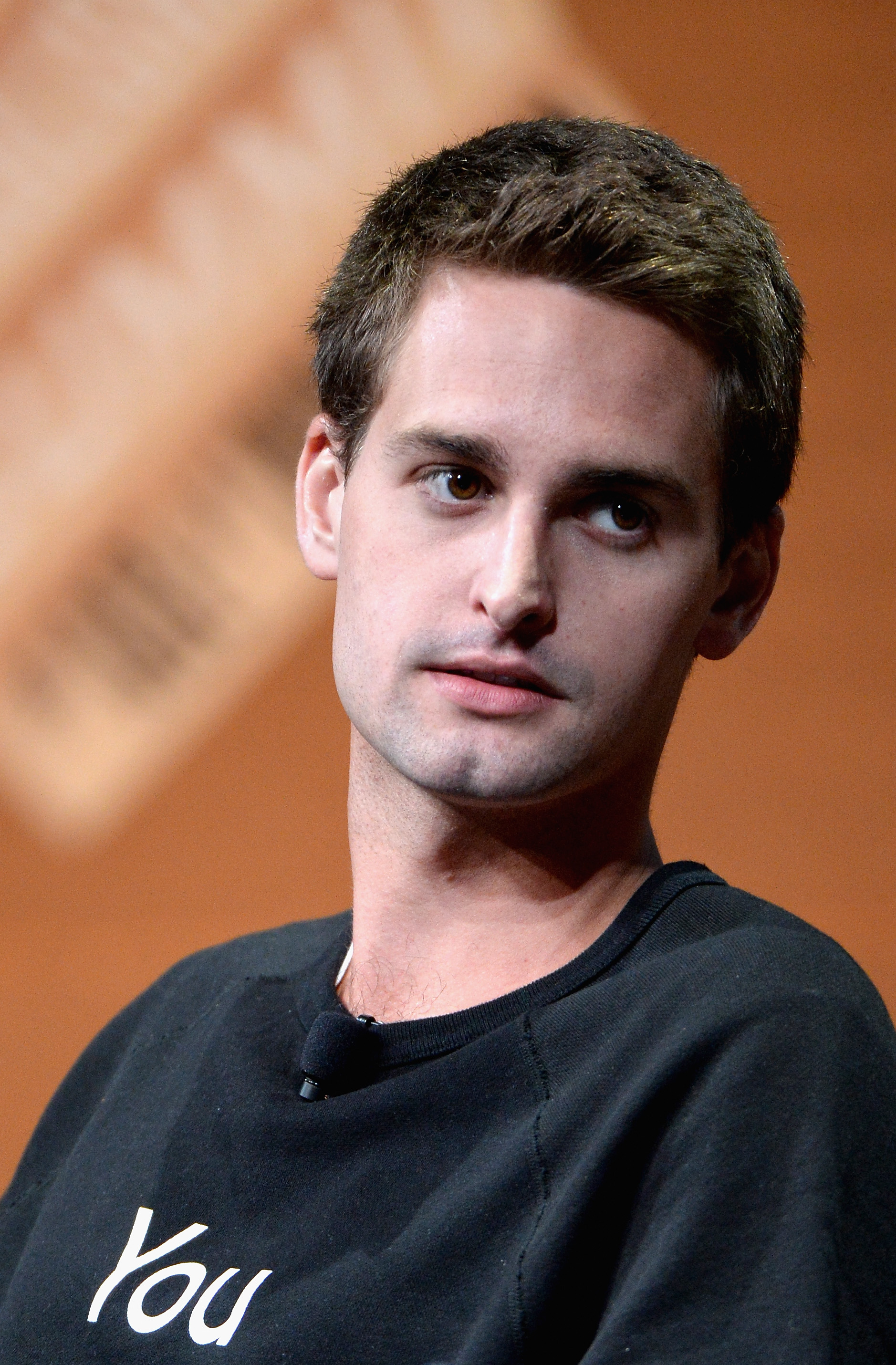 Evan Spiegel during  Disrupting Information and Communication  at the Vanity Fair New Establishment Summit in San Francisco on Oct. 8, 2014.