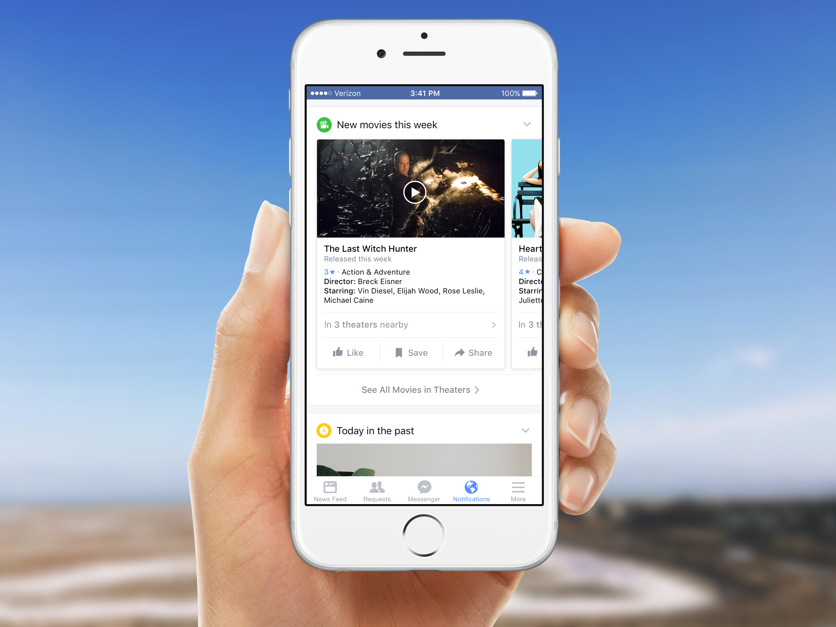 Facebook will soon be able to show you movies playing at theaters nearby and more.