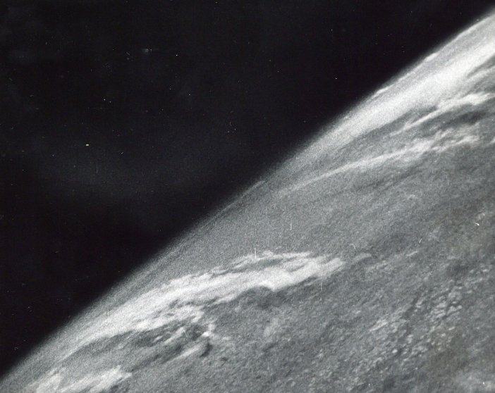 First photo of the Earth taken from space