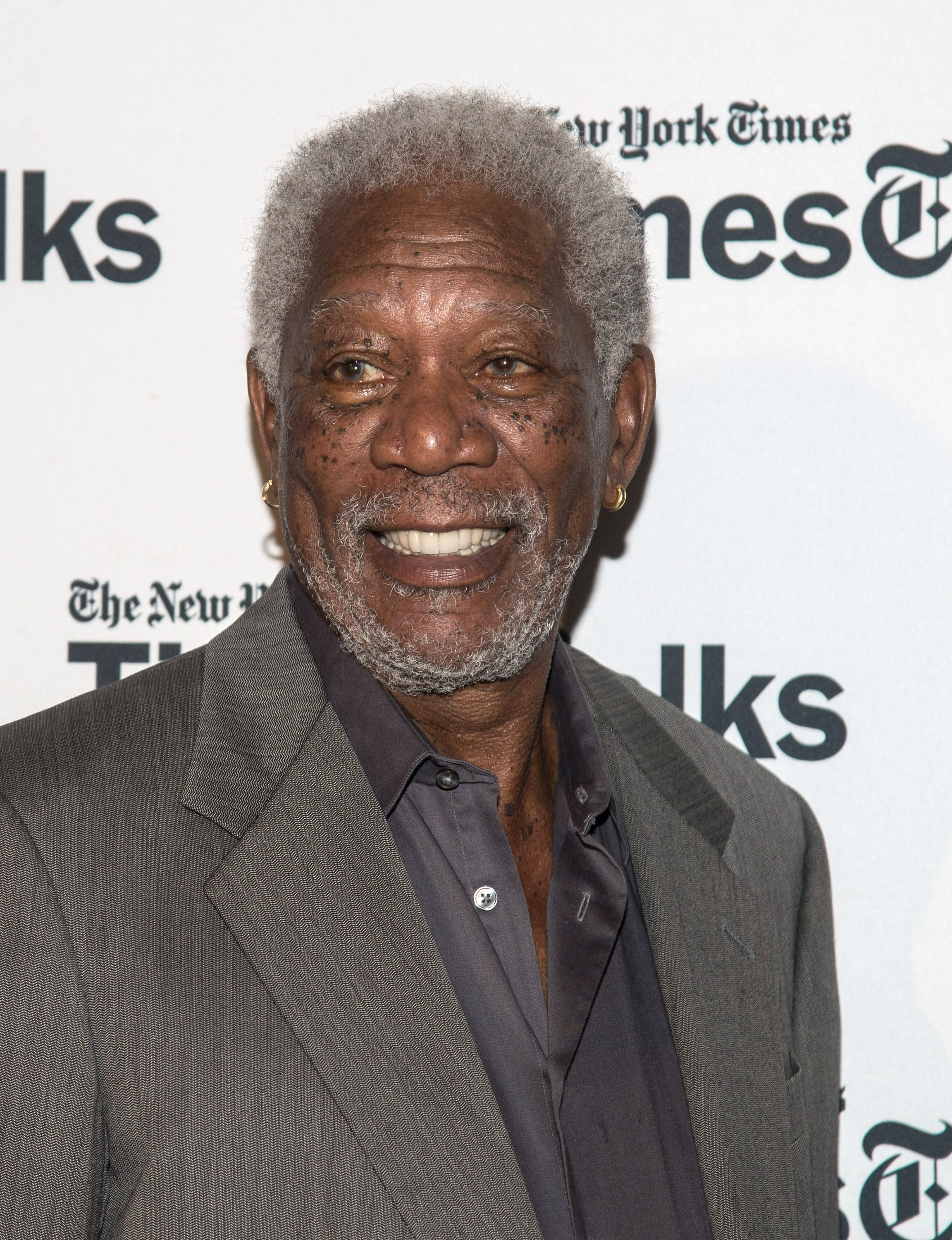 Morgan Freeman attends the Times Talks Presents: An Evening With The Cast Of  Madame Secretary  at Haft Auditorium at FIT on September 29, 2015 in New York City.