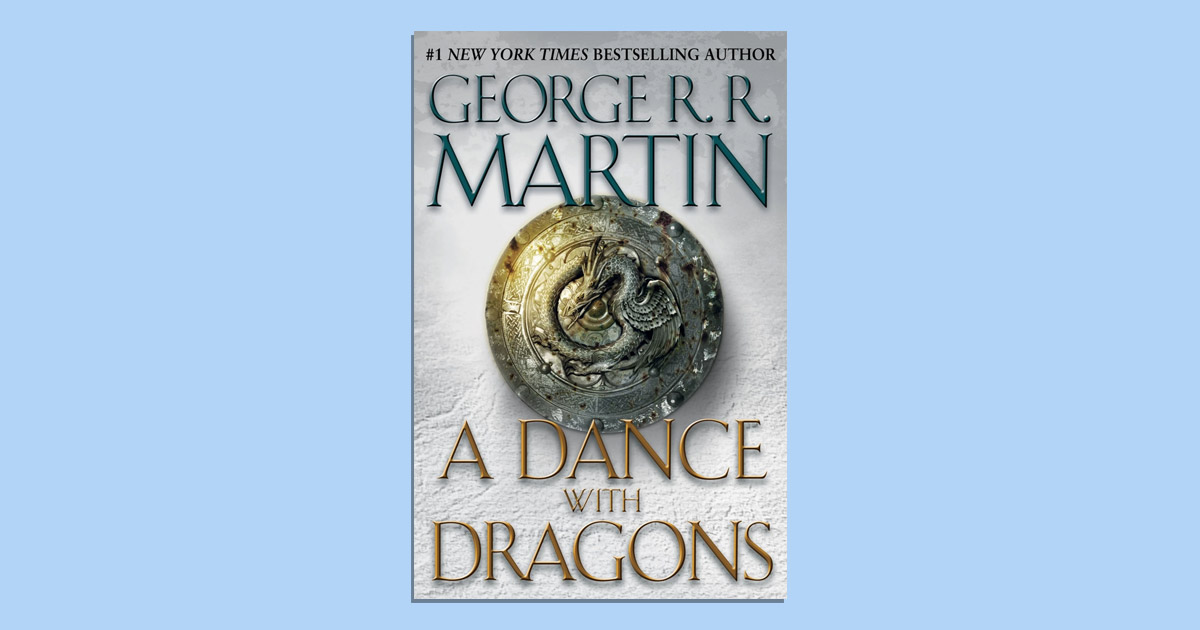 The cover of A Dance with Dragons is pictured.
