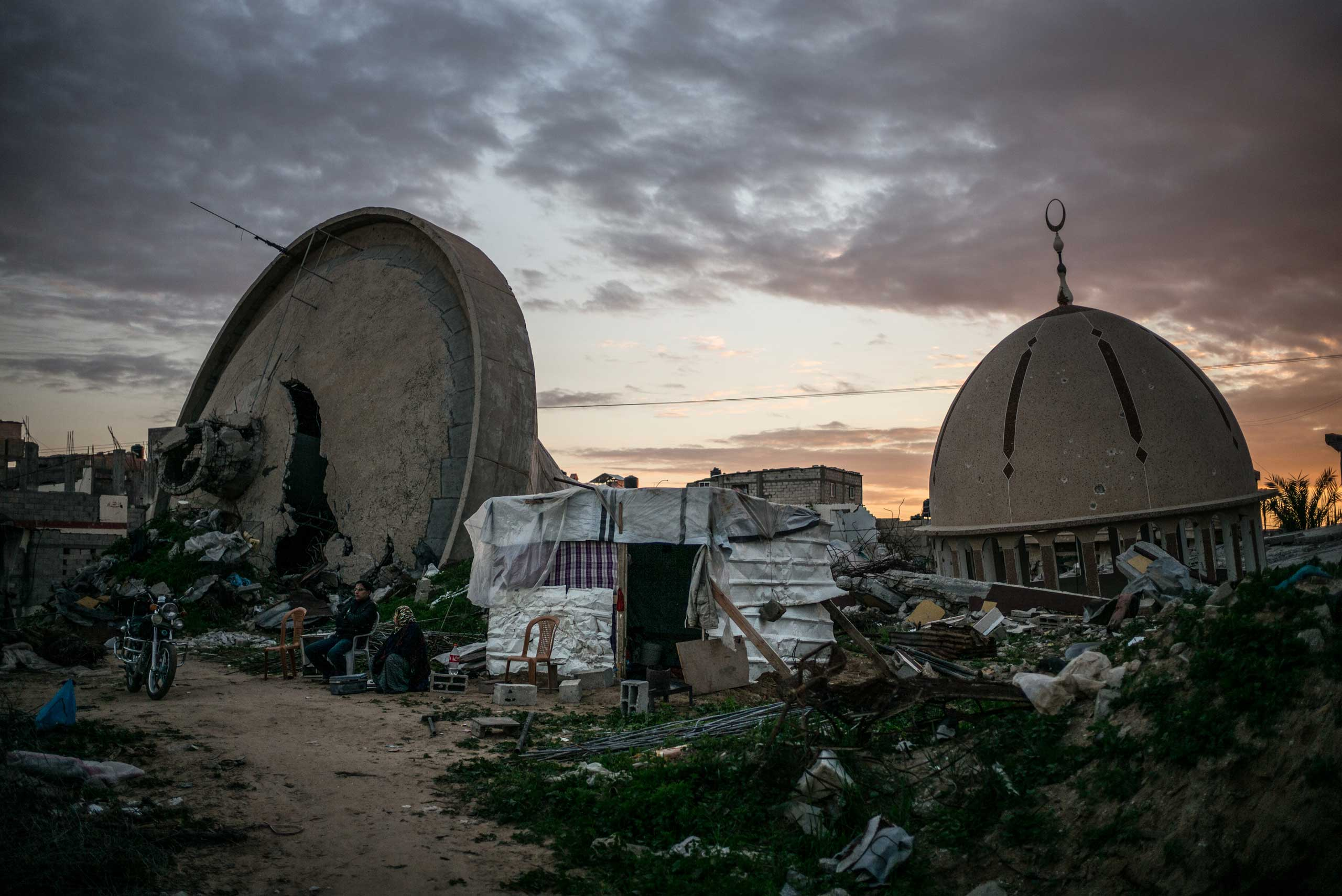 Khuza'a center, in the south of the Gaza Strip, has been heavily damaged during the last assault, known as Operation Protective Edge. The Gaza Strip, December 2014.