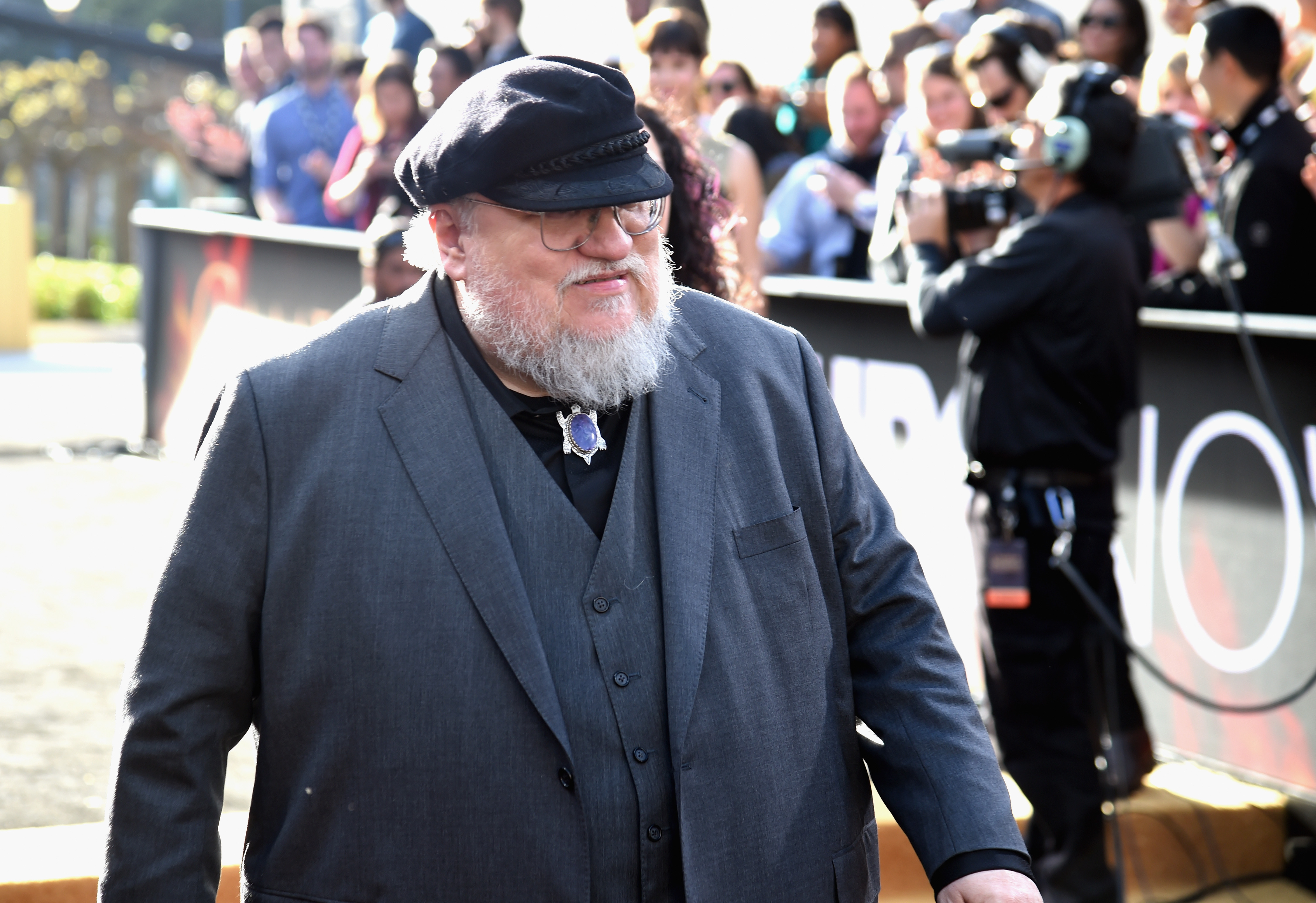 George R.R. Martin attends HBO's  Game of Thrones  Season 5 Premiere and After Party at the San Francisco Opera House on March 23, 2015 in San Francisco, Calif.